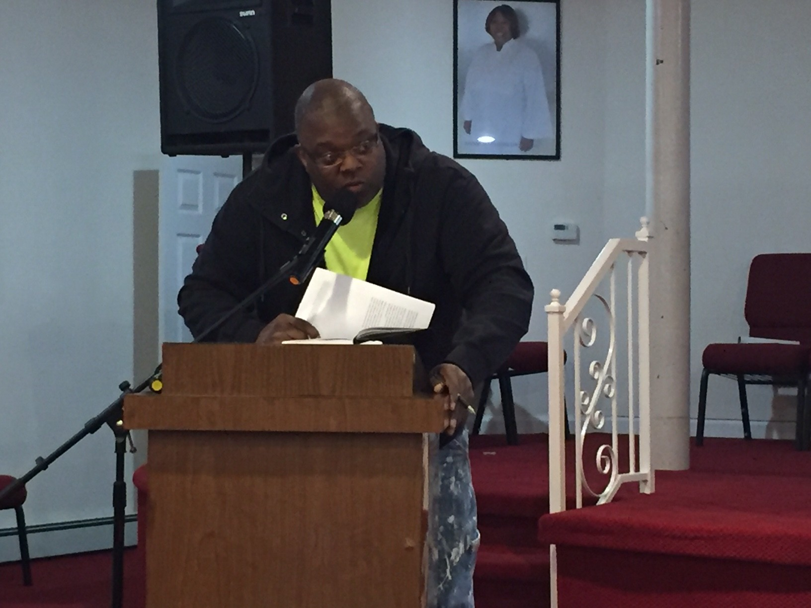 "James Hutchinson, a former Channel Park resident, said the lack of remediation in the public housing devel-opment after Sandy is ""disrespectful."""