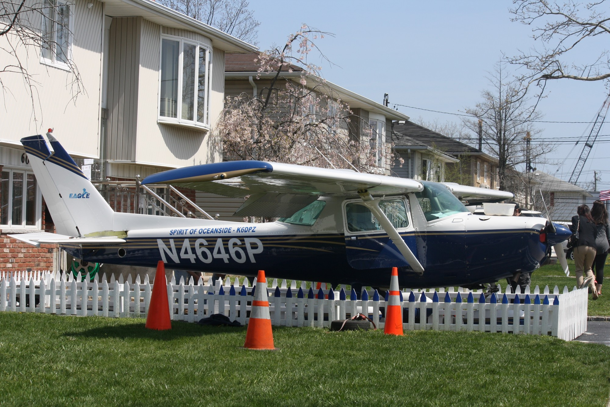 The Cessna 152, which used to stand in the driveway at Harold Guretzky's home until it was dismantled on April 20.