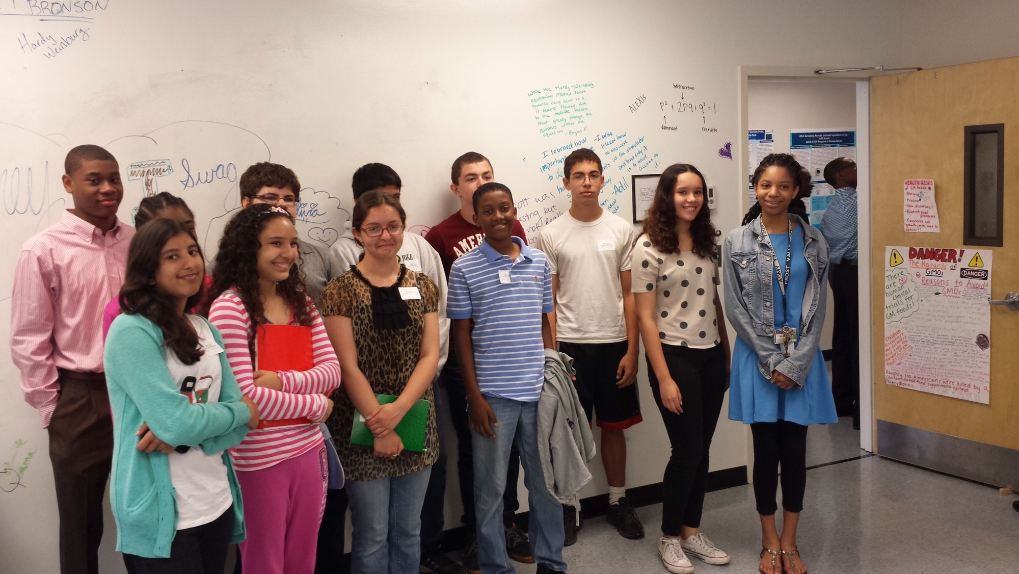 Malverne School District students toured the Doshi STEM program's facilities in June 2014.