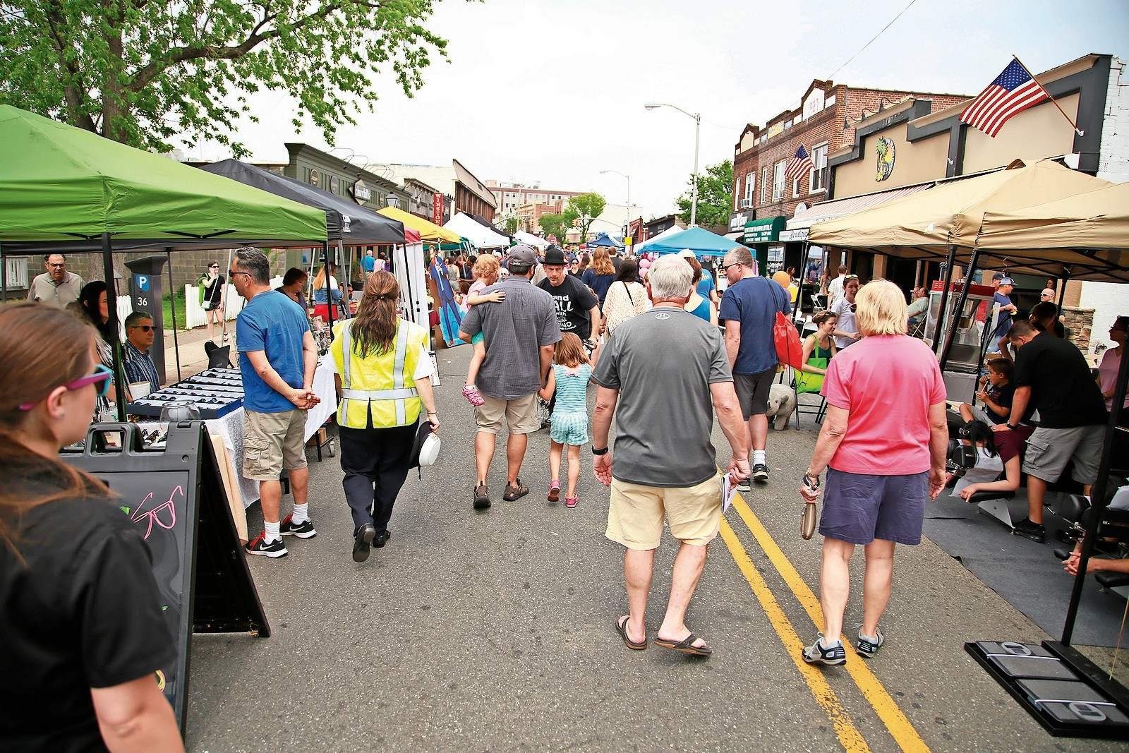 Hundreds of people from all over the area came to the village for the third annual EAT.SHOP.ROCK street fair, the most successful yet.