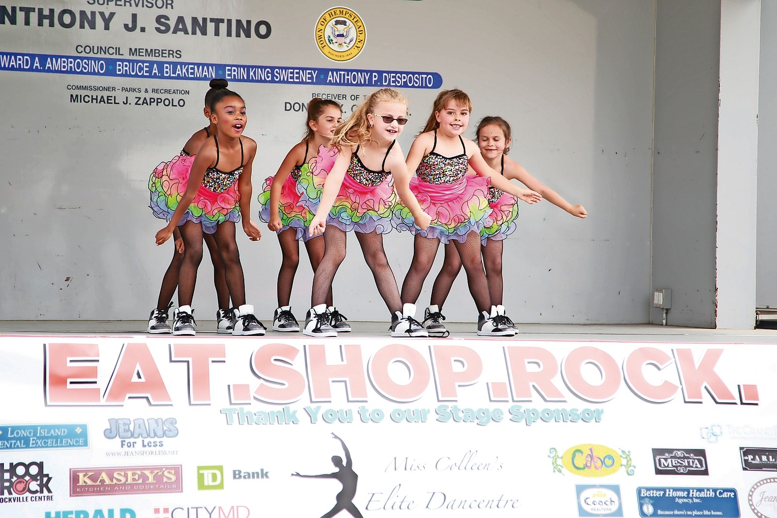 "Young dancers from Miss Colleen's Elite Dancentre performed ""A Very Happy Birthday"" on one of the two stages at EAT.SHOP.ROCK."