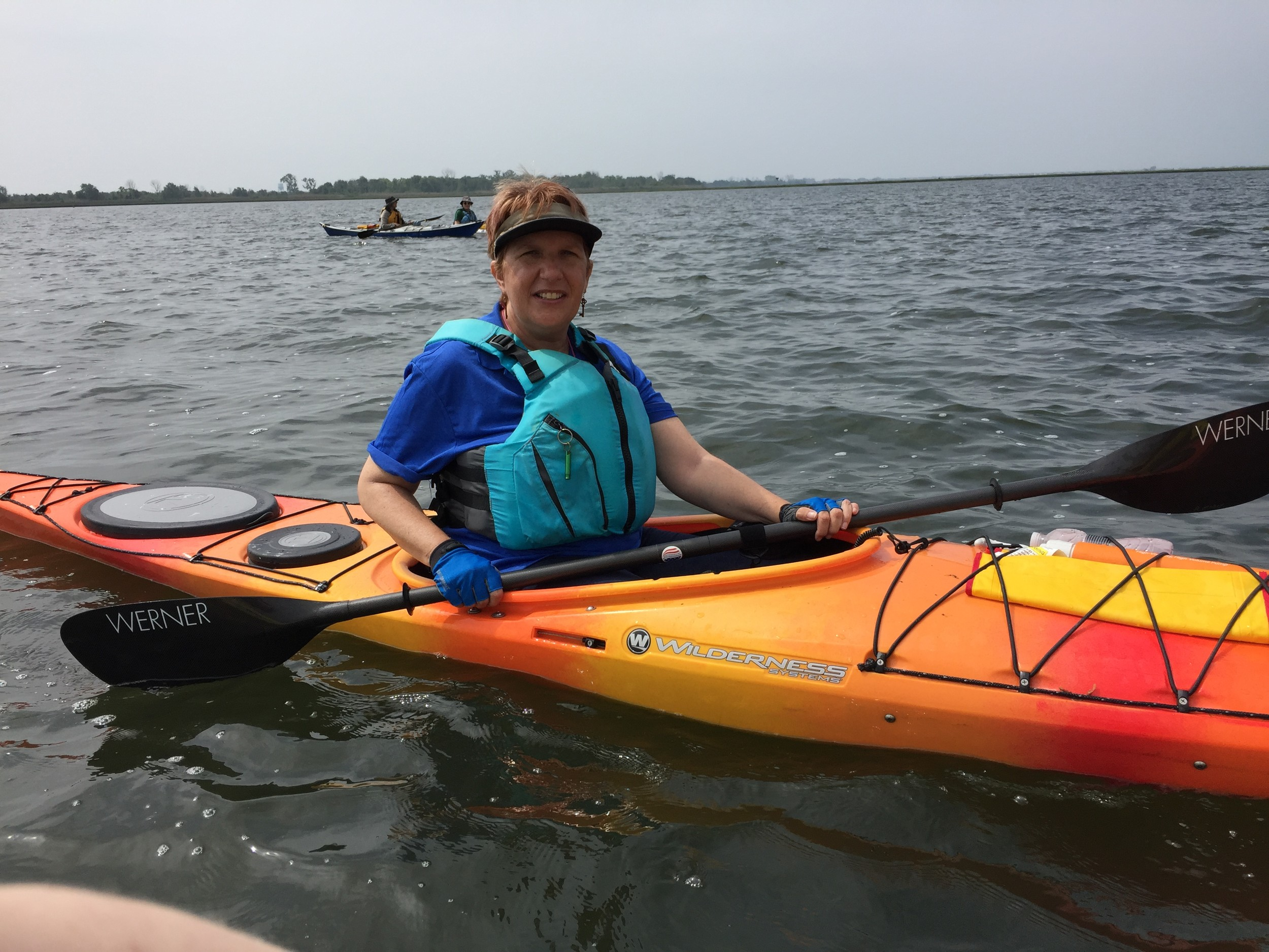 Rhonda Moziy, a member of many paddling clubs including Long Island Paddlers is from Baldwin.