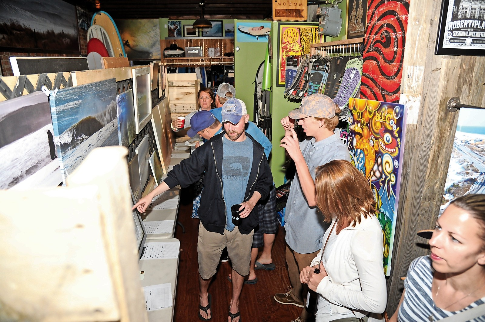 The art show event, now in its seventh year, attracted a large turnout.