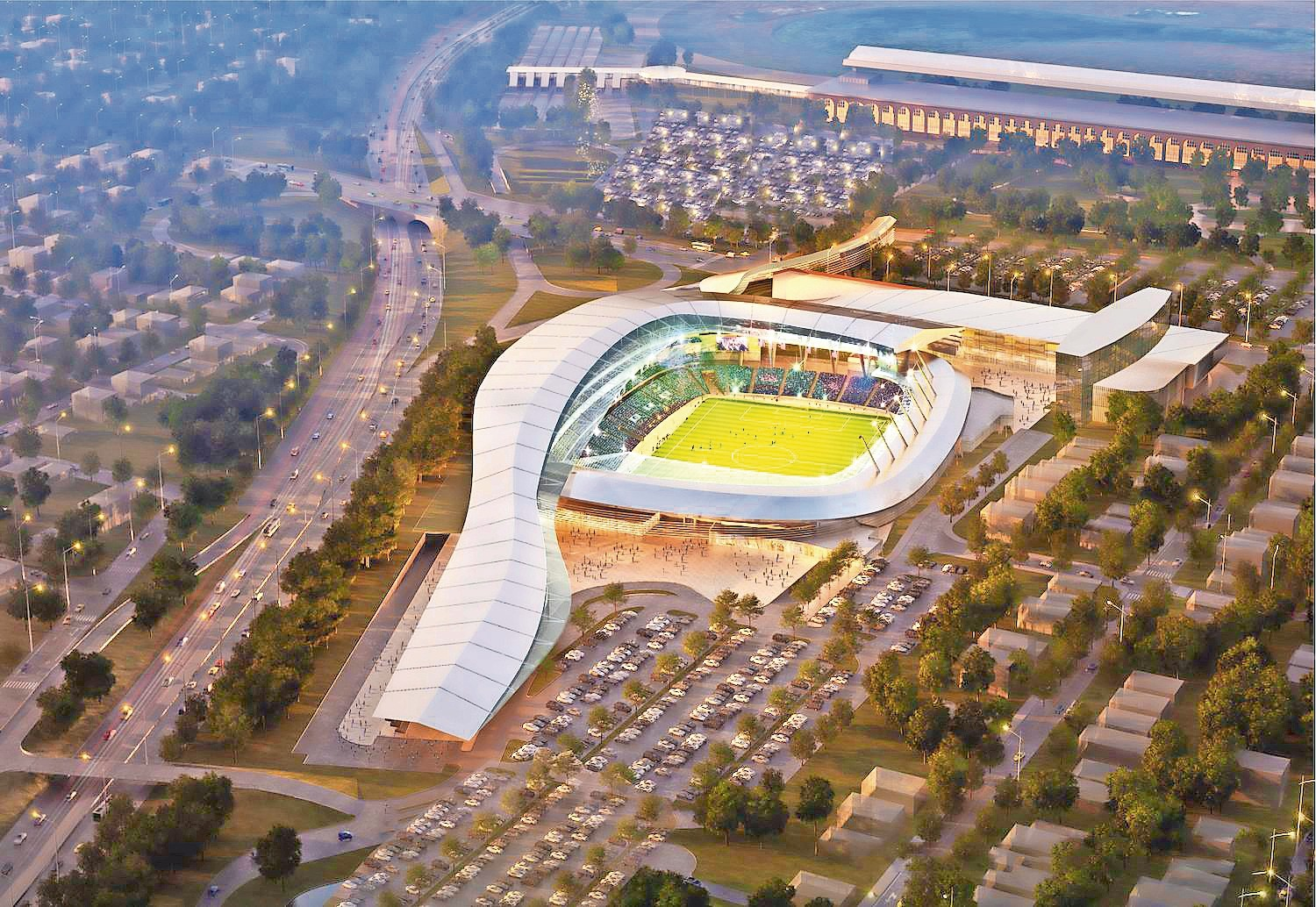 Professional soccer team, New York Cosmos, hope to build a 25,000-seat stadium with a 175-room hotel and restaurant and retail space.