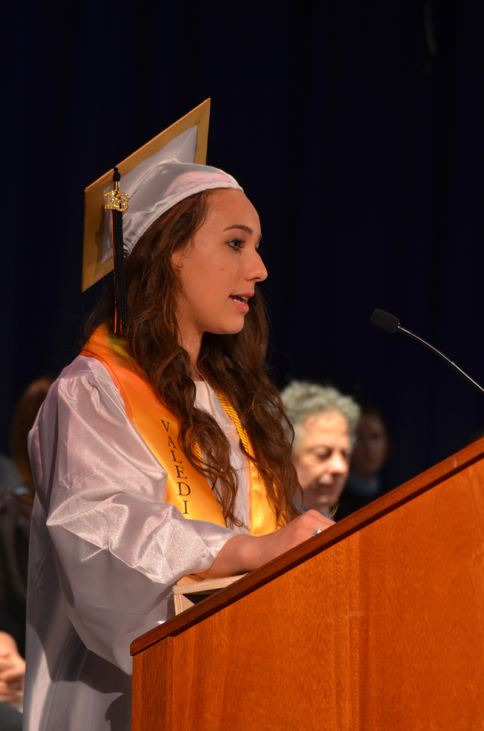 Valedictorian Sarina A Gonzalez gave an inspirational speech