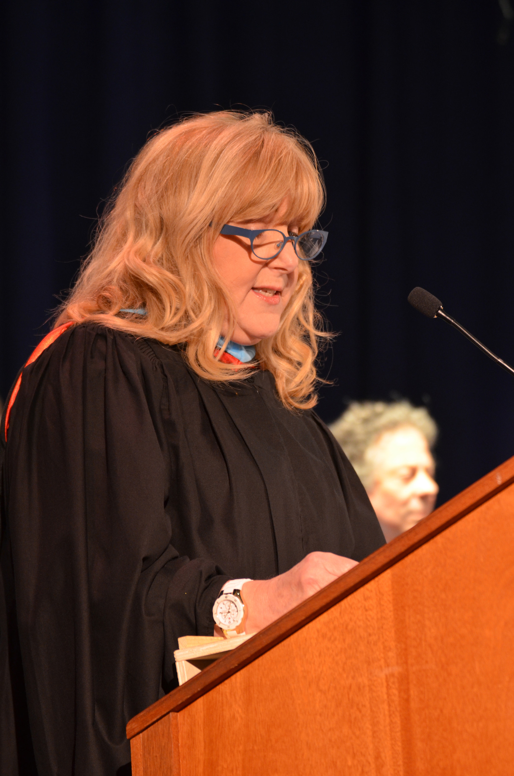 Superintendent of Schools Lisa J Ruiz addressed the graduating class.