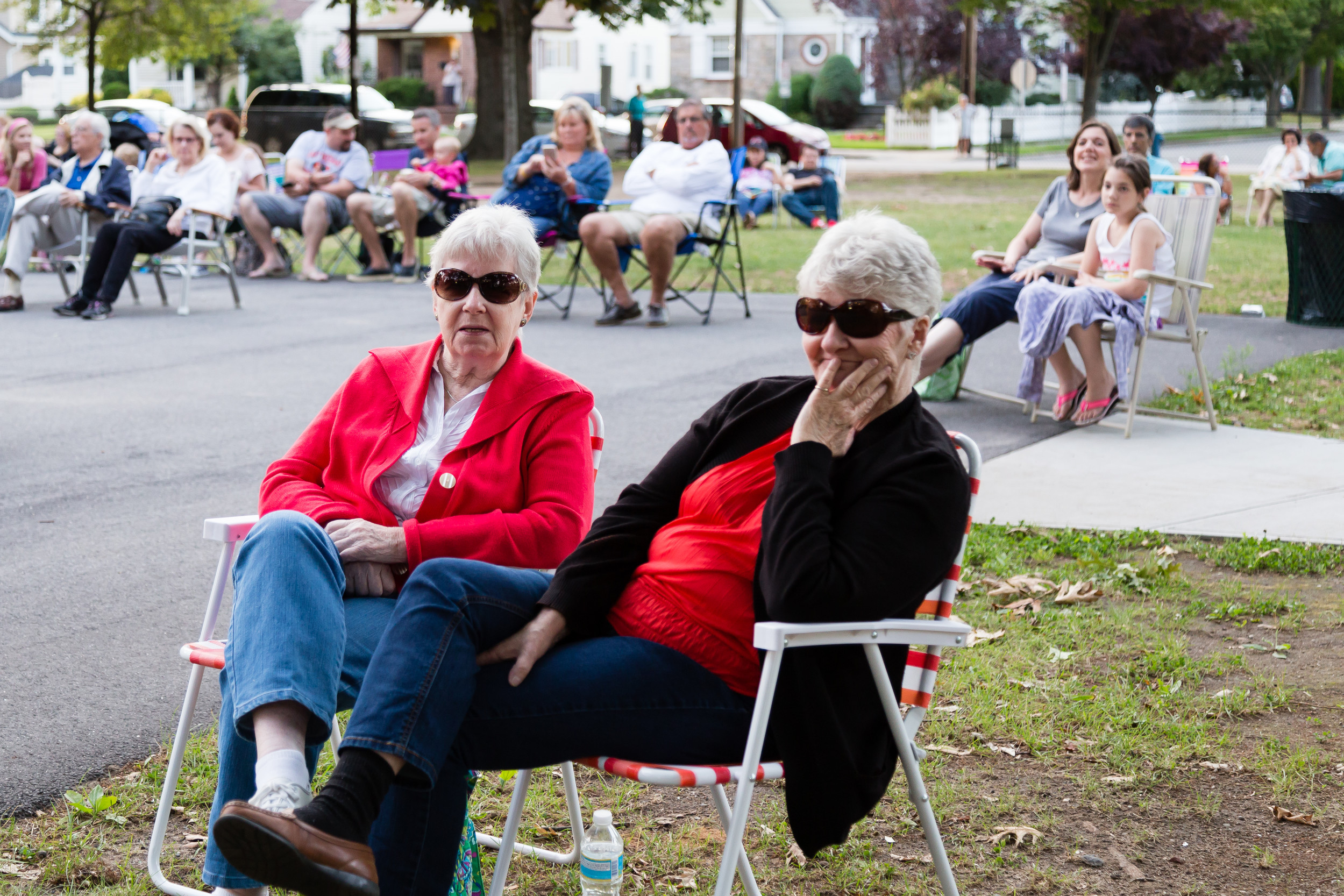L to R: Eileen Goode and Millie Pavia enjoy