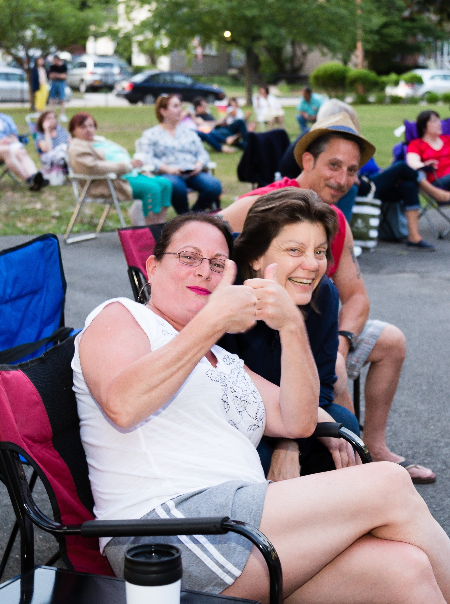 Concert goers at The Steel Silk Band performance at East Rockaway Summer Concert Series at Memorial Park in East Rockaway, New York on Saturday July 2nd 2016.
