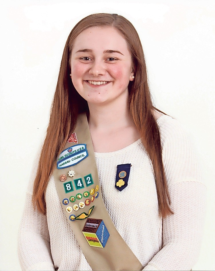 rockville centre girl scouts earn gold awards herald