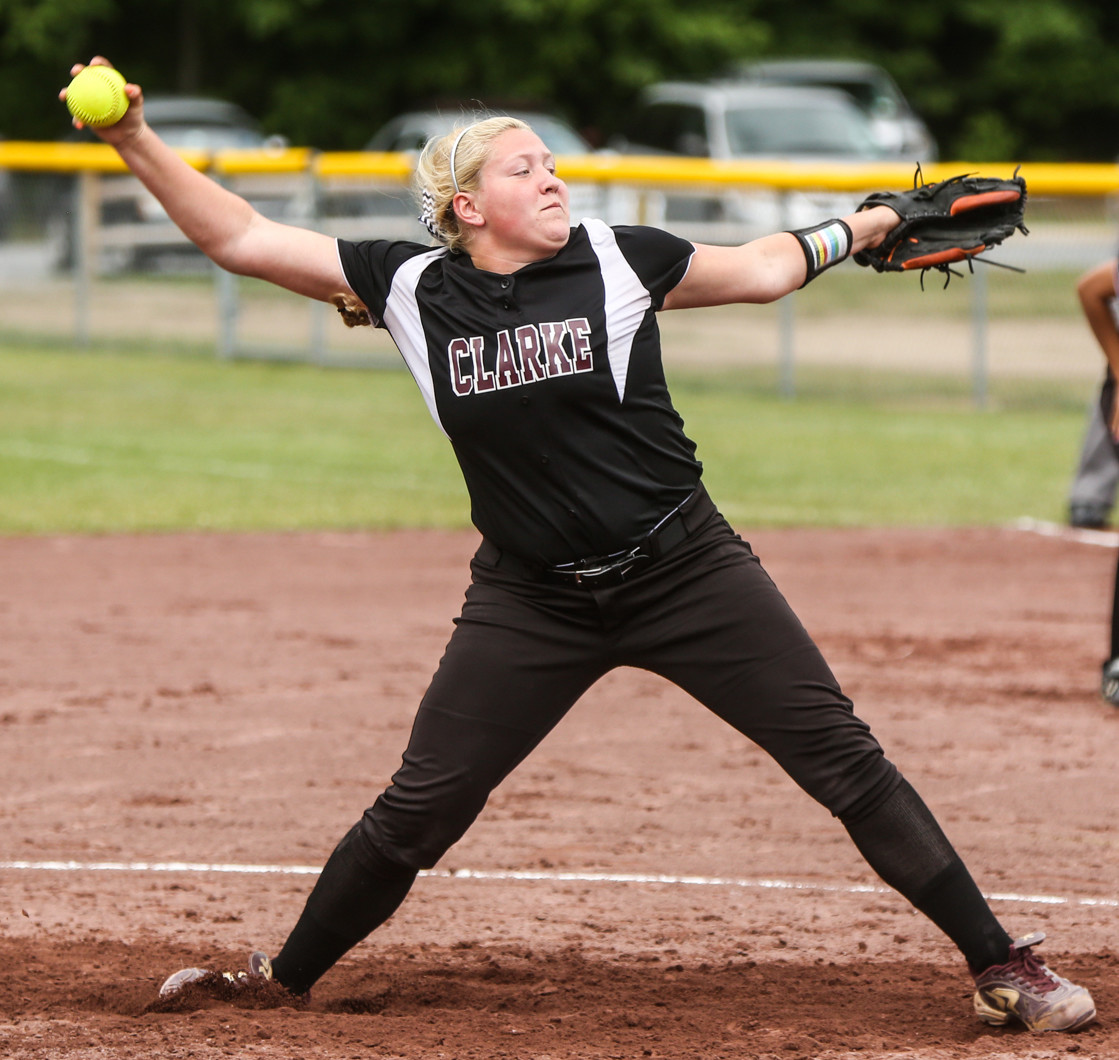 Cornell, a pitcher, capped a memorable high school softball career by leading Clarke to the New York state Class A title game for the second straight year.