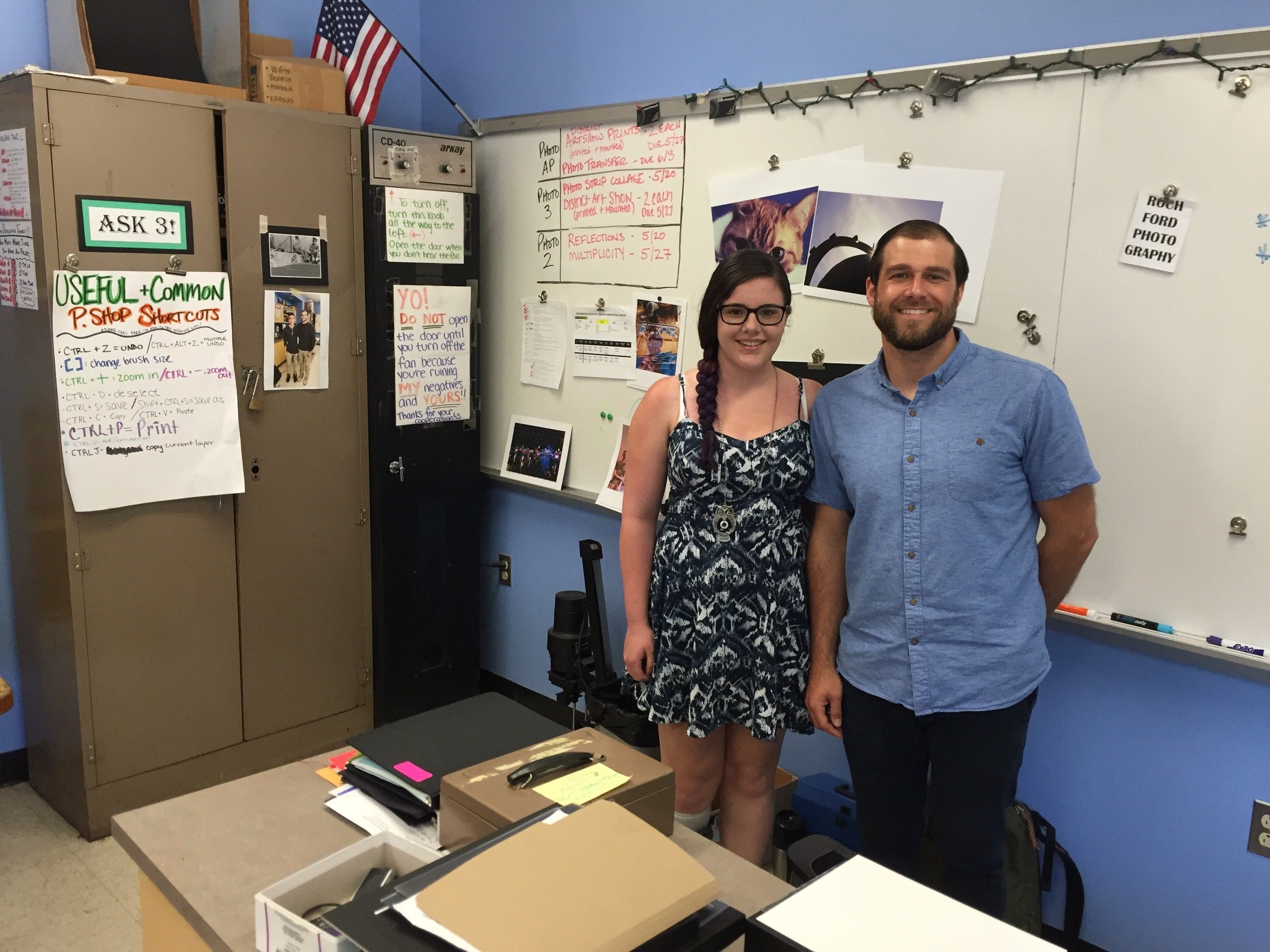 Ryan Rochford, Caitlyn Herlihy's photography teacher at EMHS, praised her work ethic
