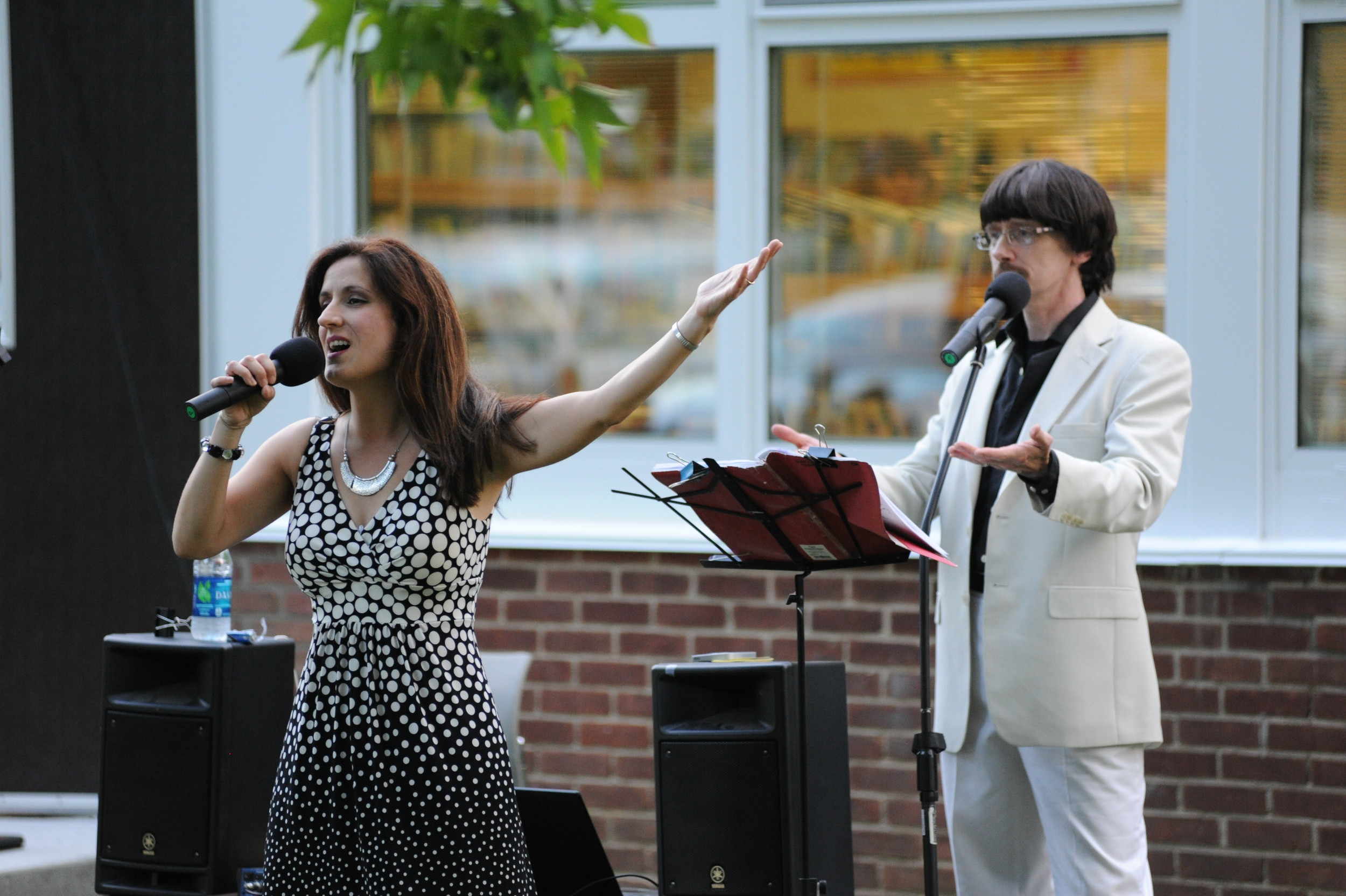 0ec85e9a5b9 Rob and Patty Walsh performed a medley of Sonny and Cher's hits for a crowd  at