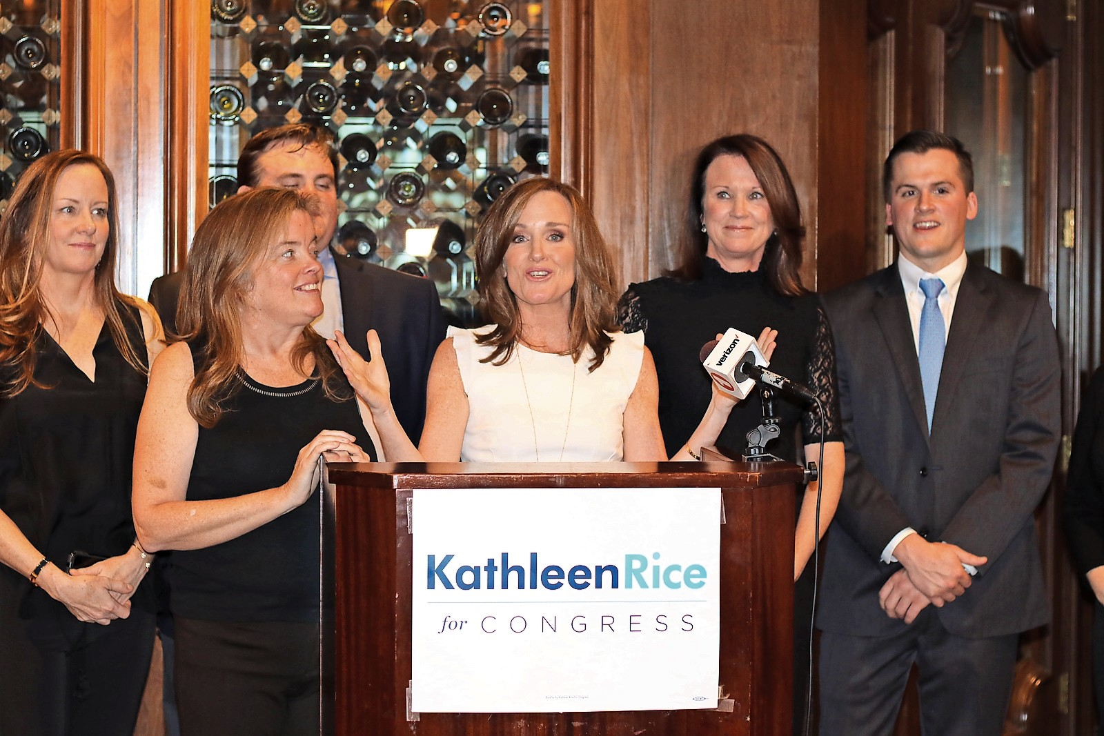 U.S. Rep. Kathleen Rice, who represents the 4th District, handily won re-election on Tuesday.