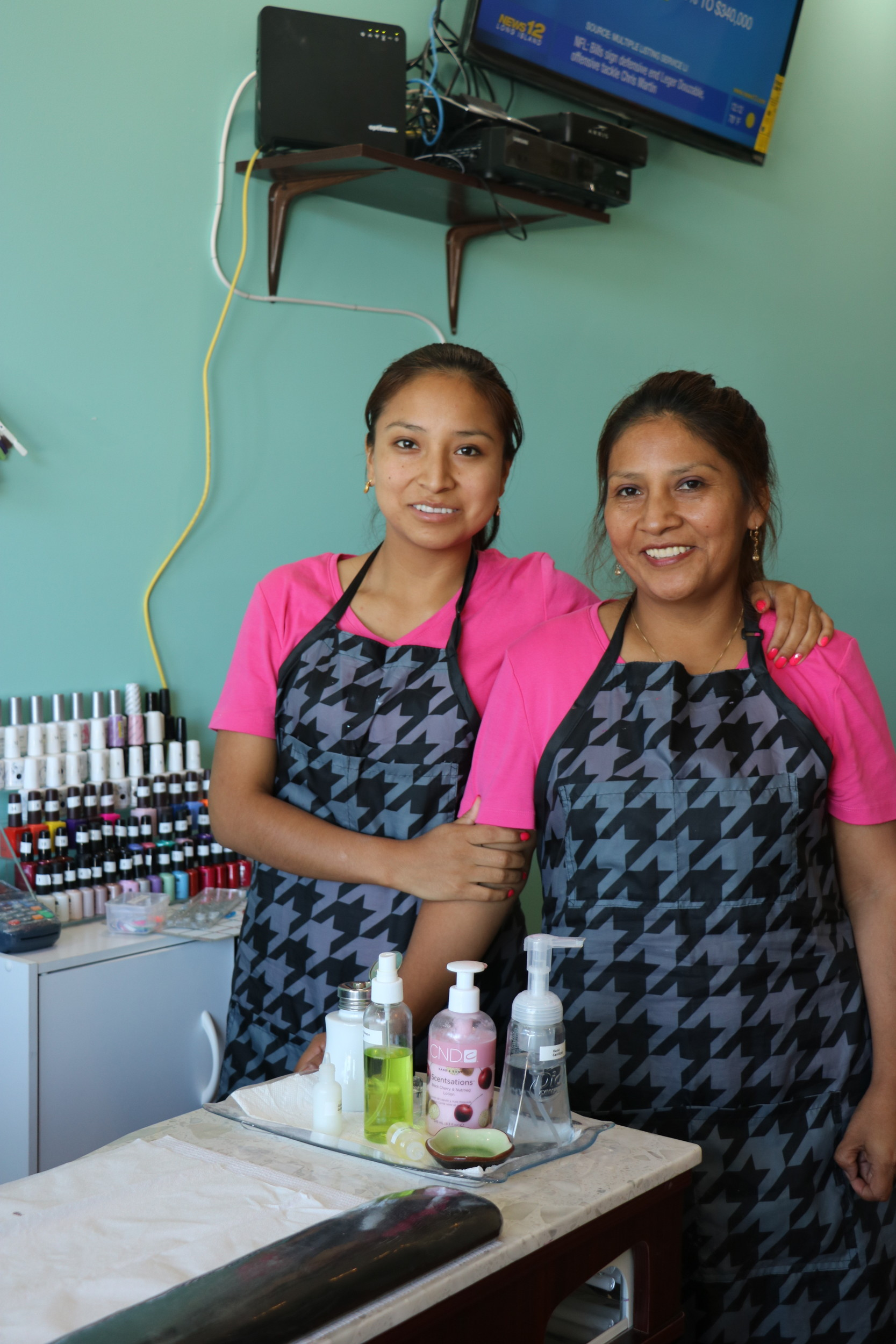 Maria Lhicay came to the United States from Ecuador with her daughter Miriam. Together they run The Diva Salon in Island Park.