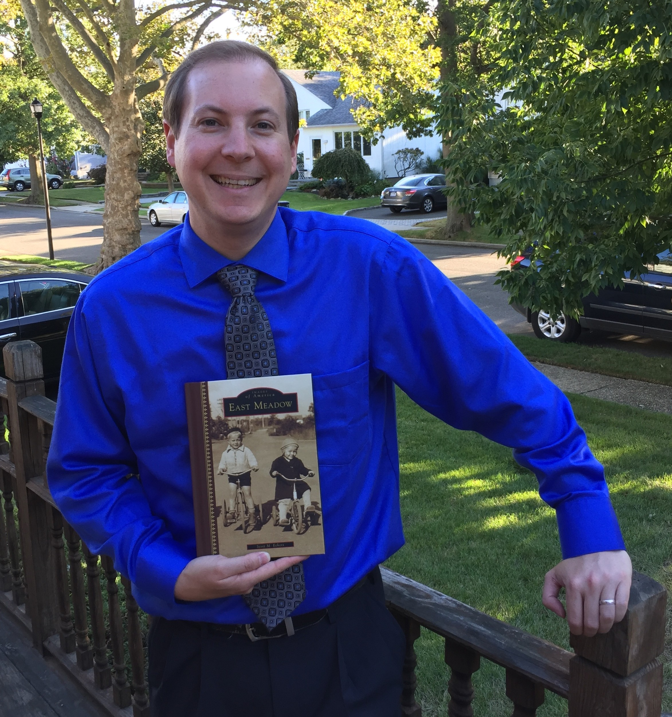 East Meadow resident-turned author Scott Eckers penned East Meadow's first history book, which hit shelves on Oct. 17.