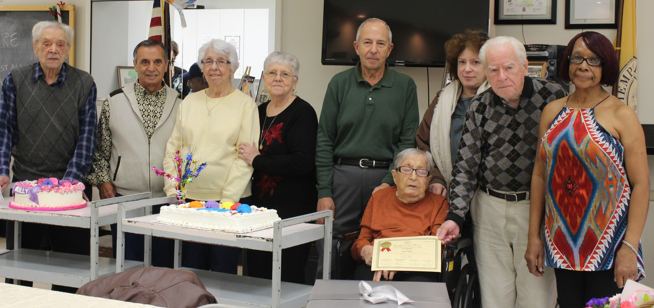 Mollie Spiegel celebrated her 106th birthday with family and friends at the East Meadow Senior Center on Nov. 30.