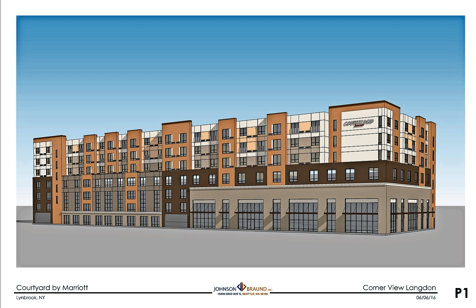 A Preliminary Rendering Of The Six Story Courtyard By Marriott Hotel That Developers Hope To