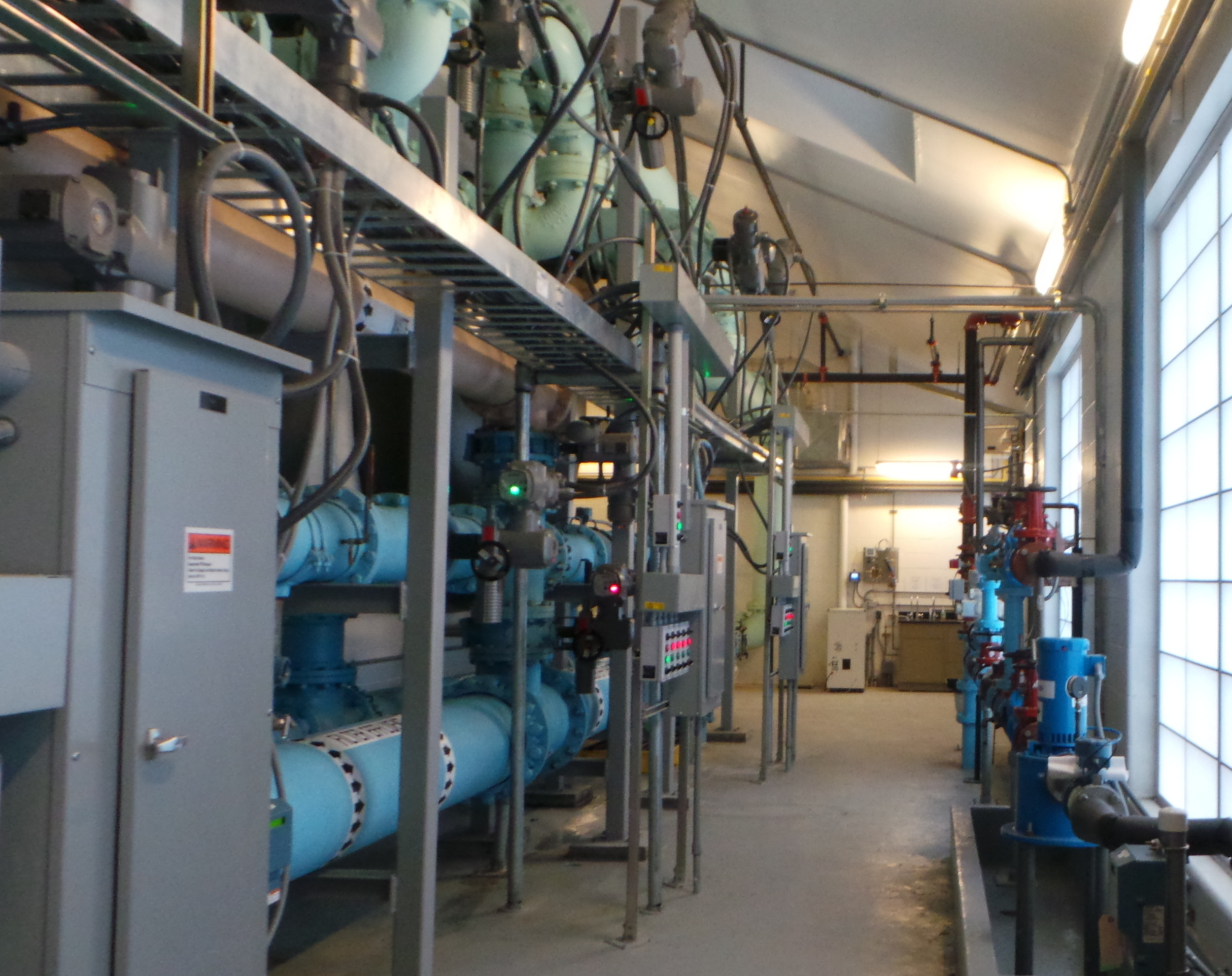 A view of the inside of New York American Water's Plant #15 in Lynbrook.