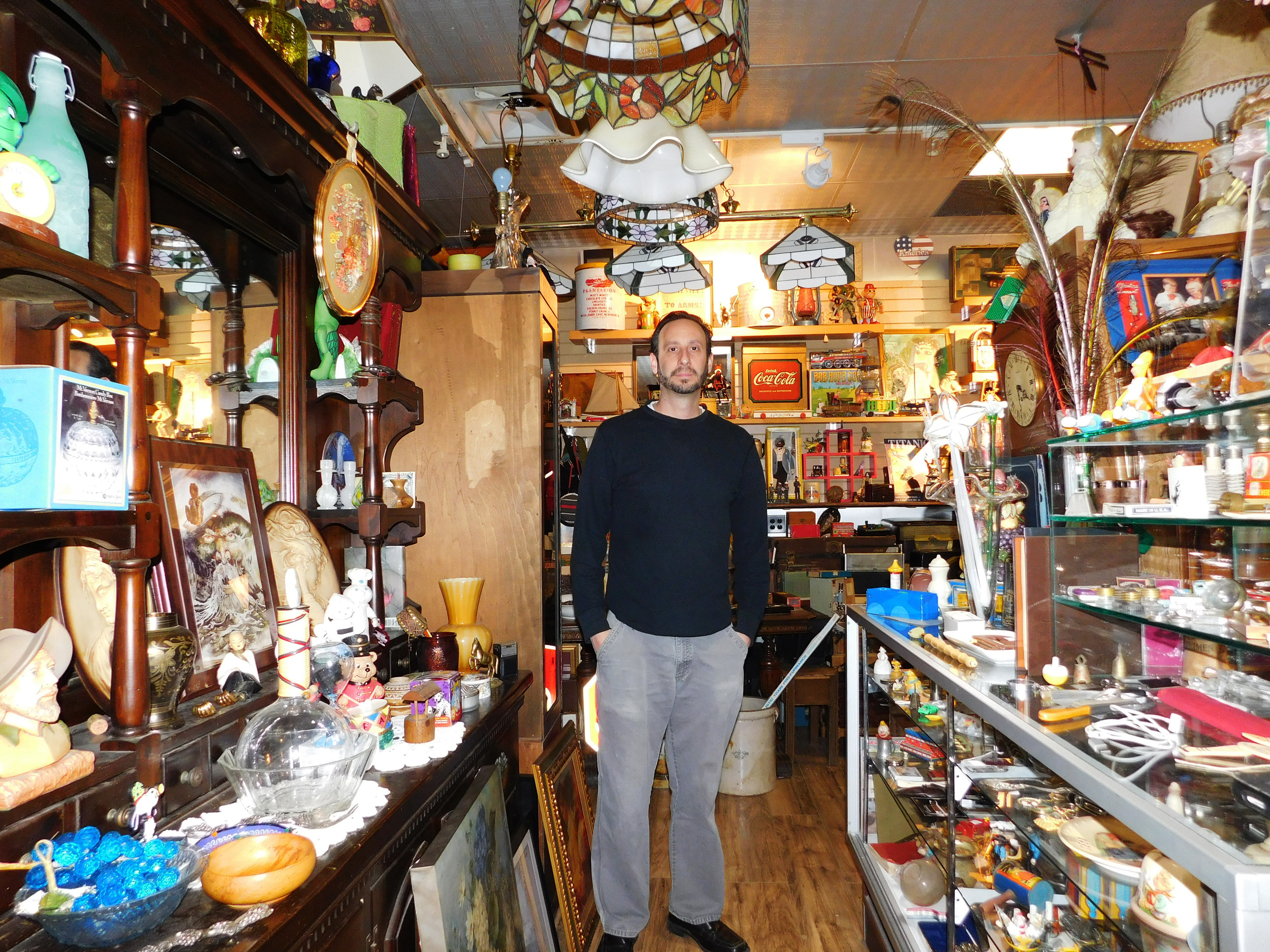 Tuzzolo took the Herald on a brief tour of his thrift shop, which doubles as a space to unload items when seniors downsize their living situations.