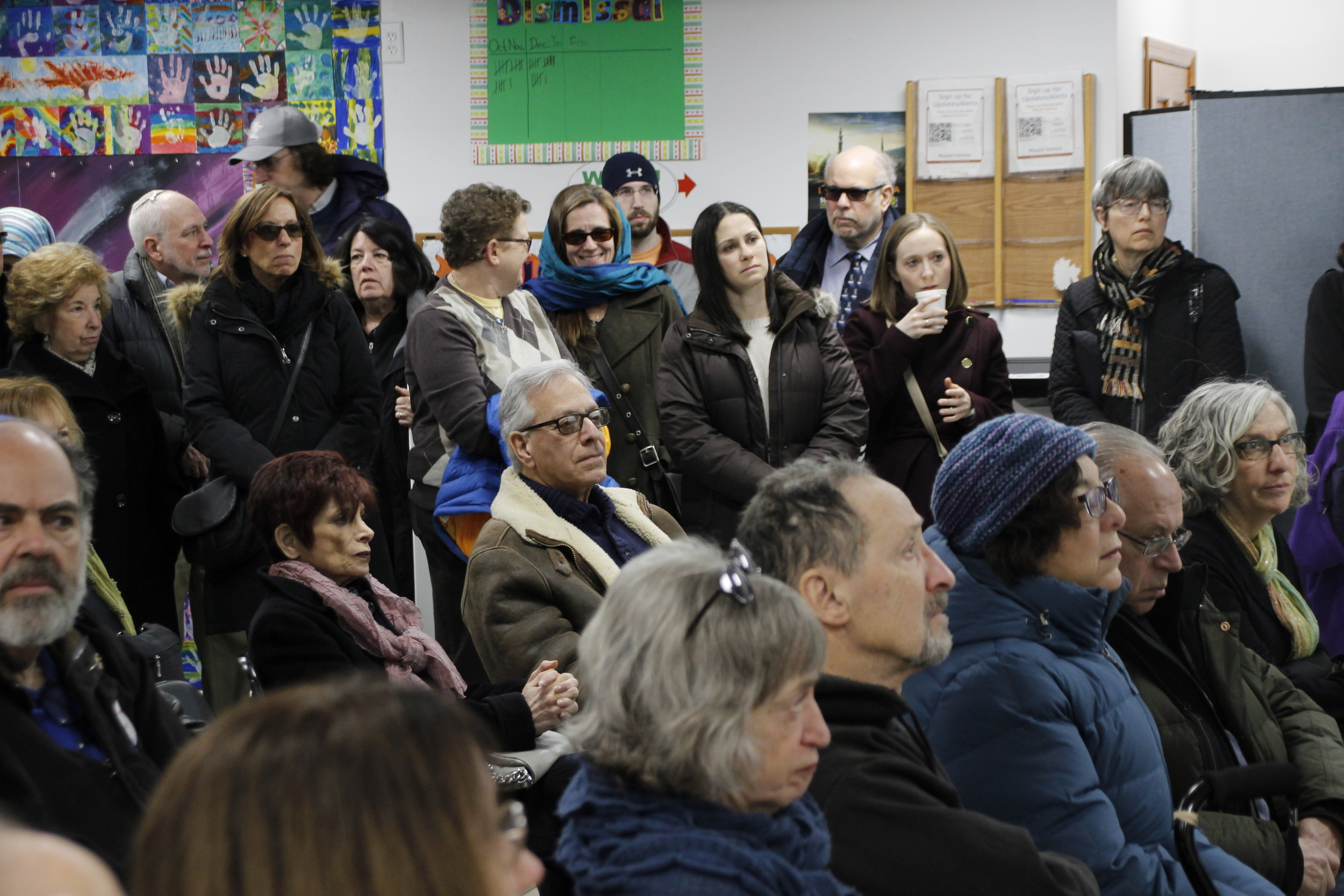 It was standing room only at Masjid Hamza Islamic Center of South Shore on Feb. 3.