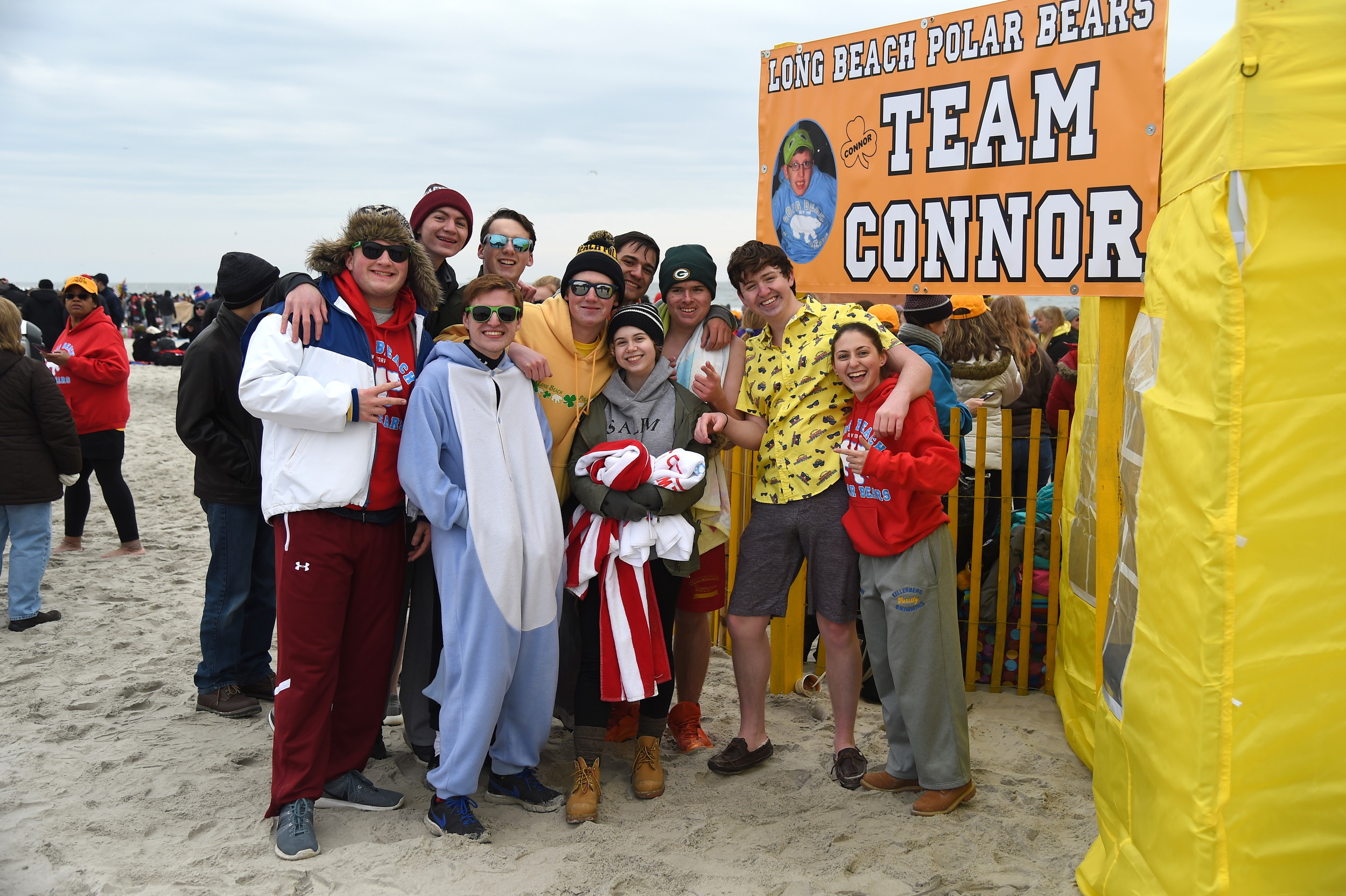 Members of Team Connor gathered outside their tent and celebrated the memory of Connor Troy, who received a wish from the foundation in 2014 but died shortly afterward.