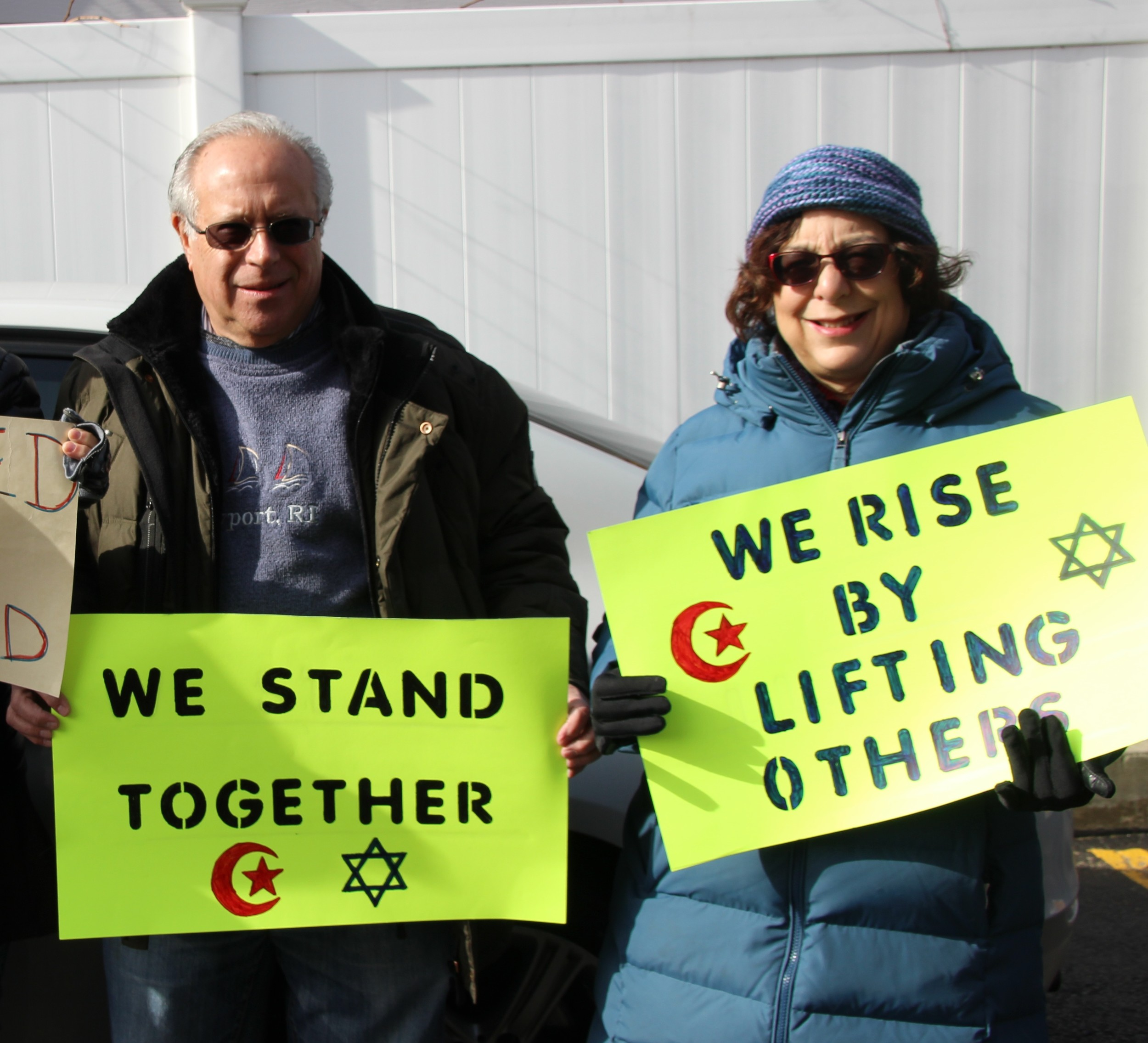 Allen Kupchik, left, and his wife, Arlene, of Baldwin, are parishioners at Central Synagogue-Beth Emeth.