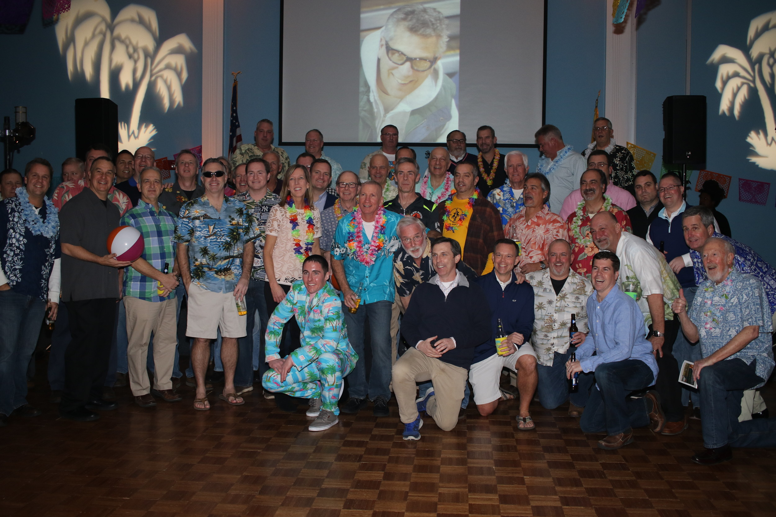 Dozens of partygoers gathered at the St. Agnes Parish Center for the fourth annual Margaritaville.
