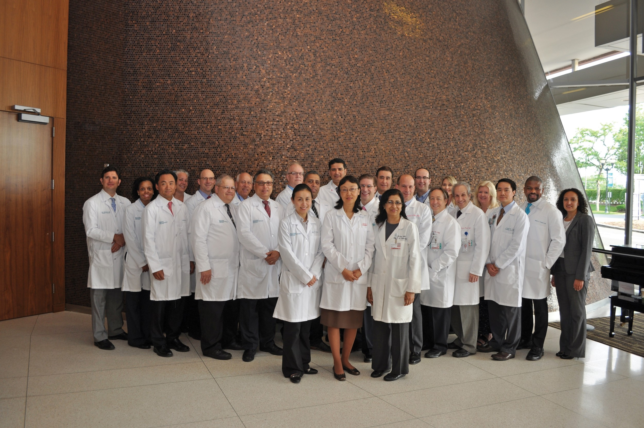 South Nassau Communities Hospital's comprehensive cancer program features a team of medical, radiation, and surgical oncologists.