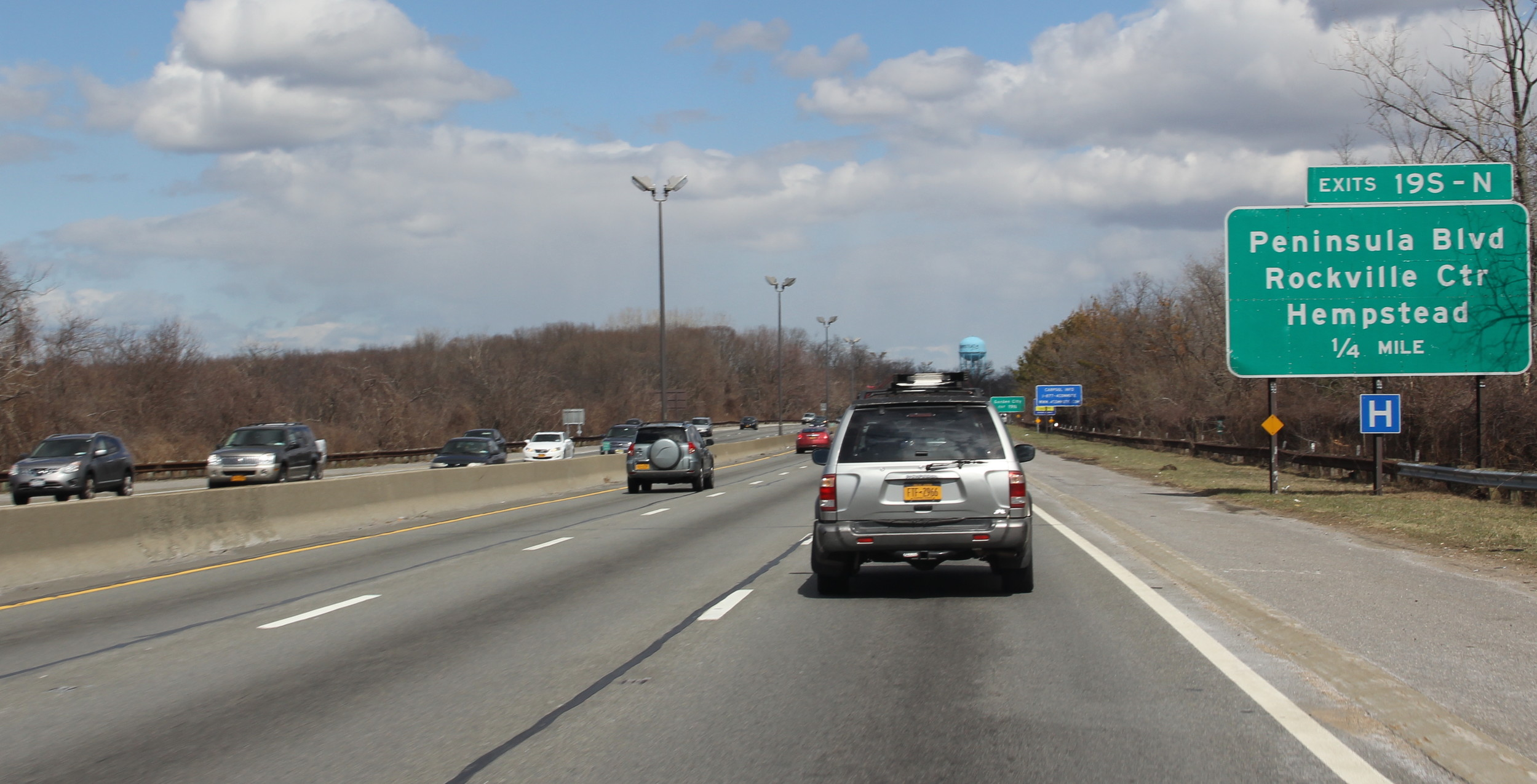 The incident happened on the eastbound side of the Southern State Parkway, just west of the Peninsula Boulevard exit beside Hempstead Lake State Park.