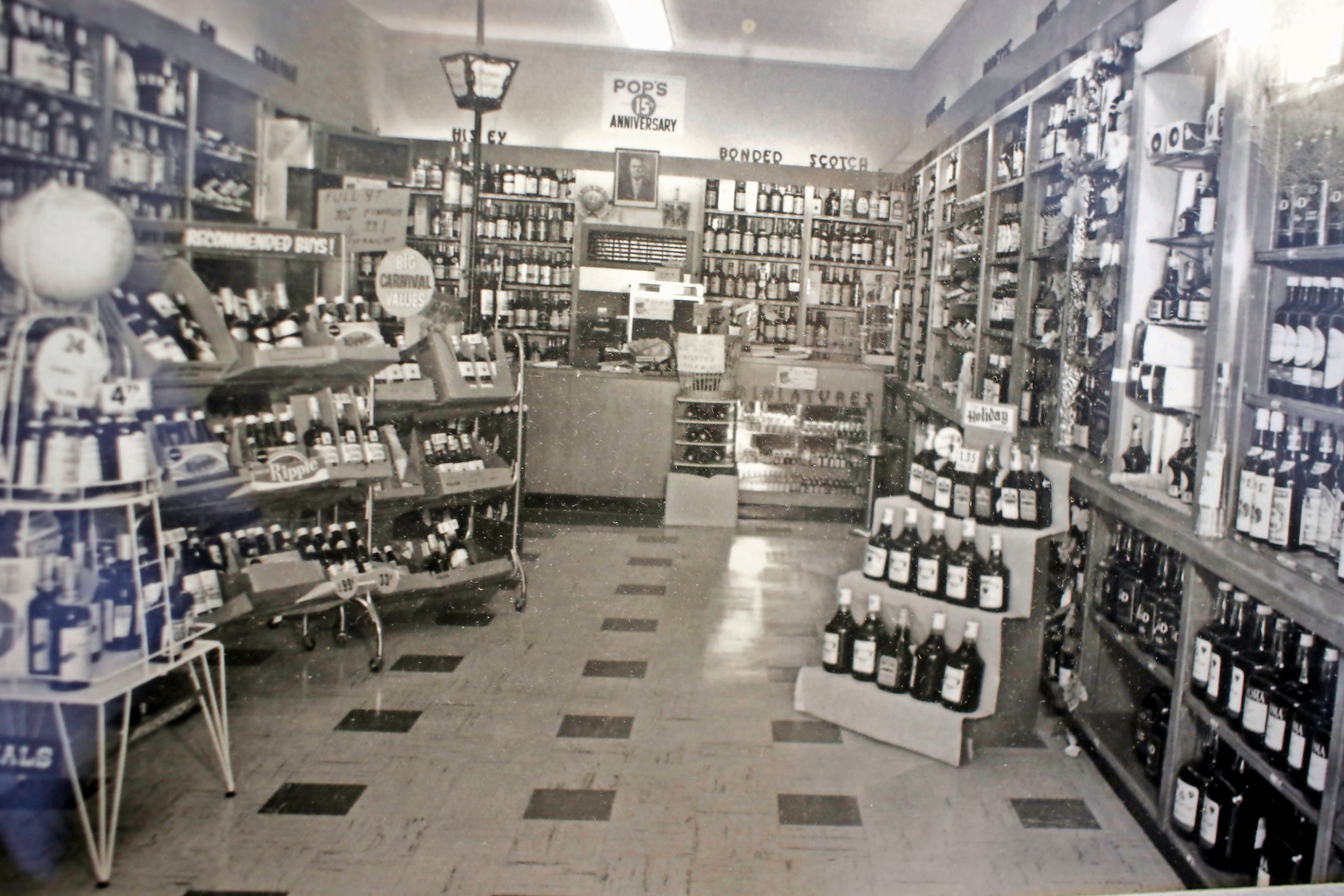 The shop, which Peter Poulos opened in 1945, was originally smaller.