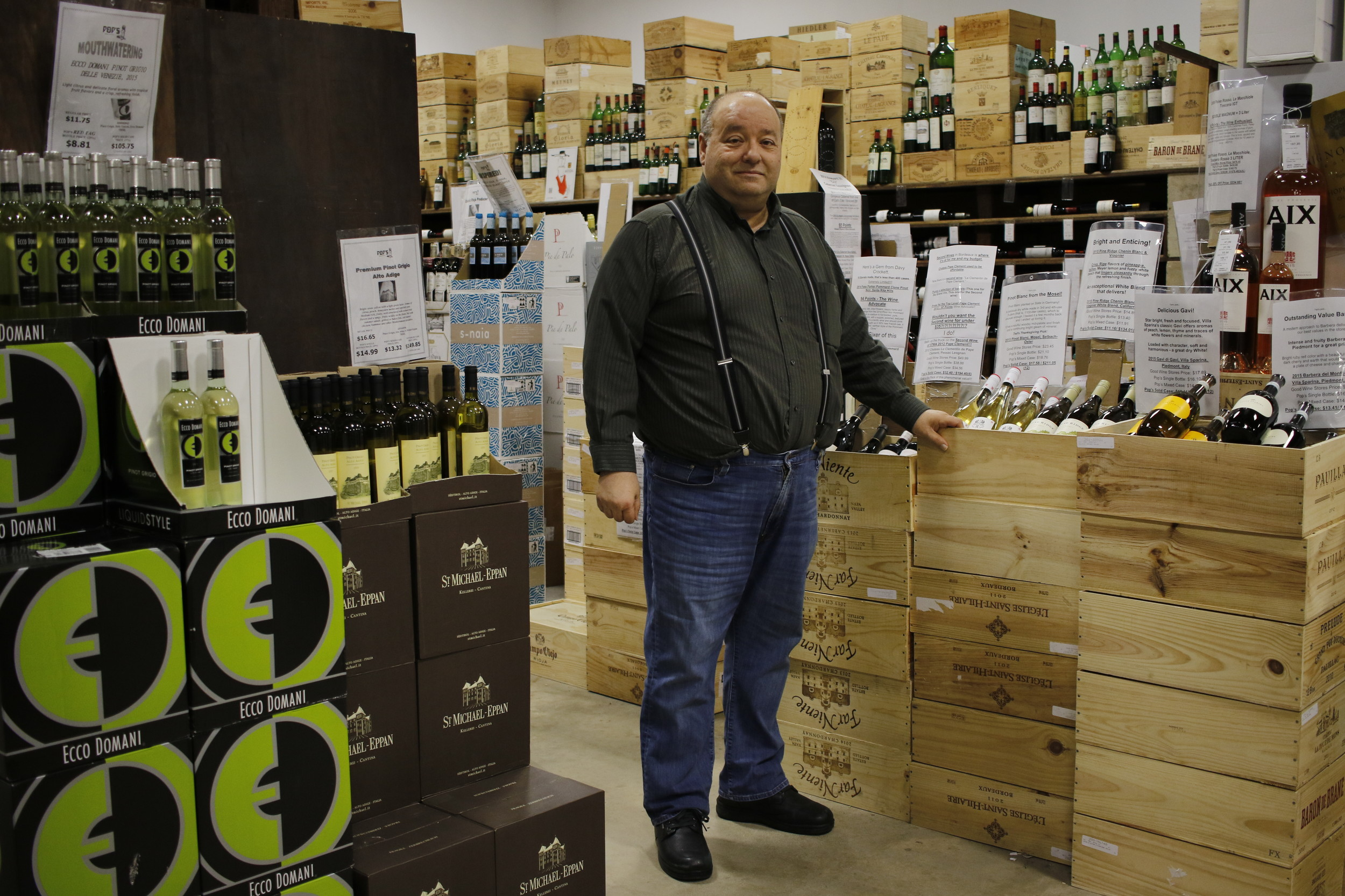 Nick Poulos, owner of Pop's Wine and Spirits, took over the business from his father in 1976.