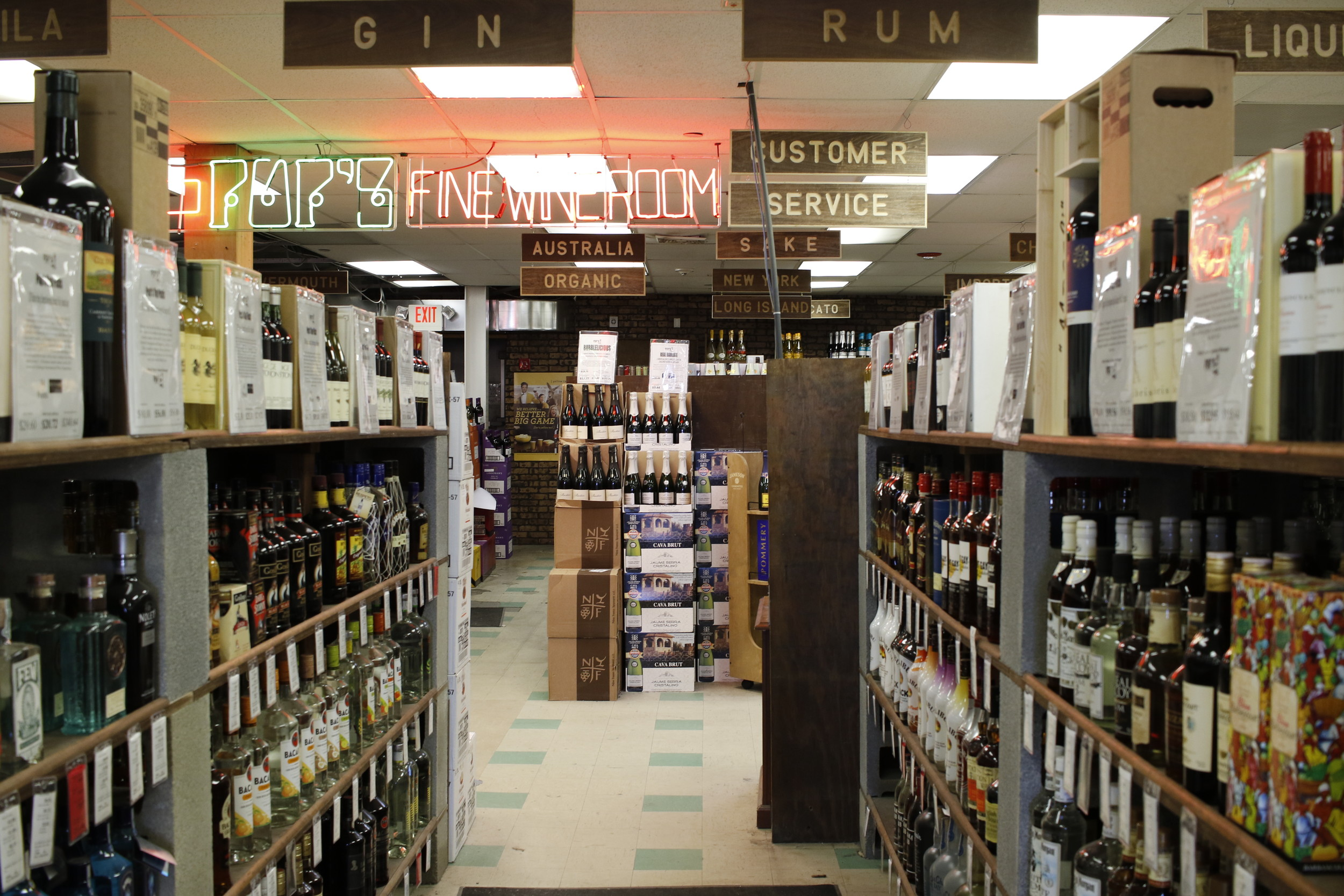 The store has had five expansions during the last 40 years, and opens up into Pop's Fine Wine Room.