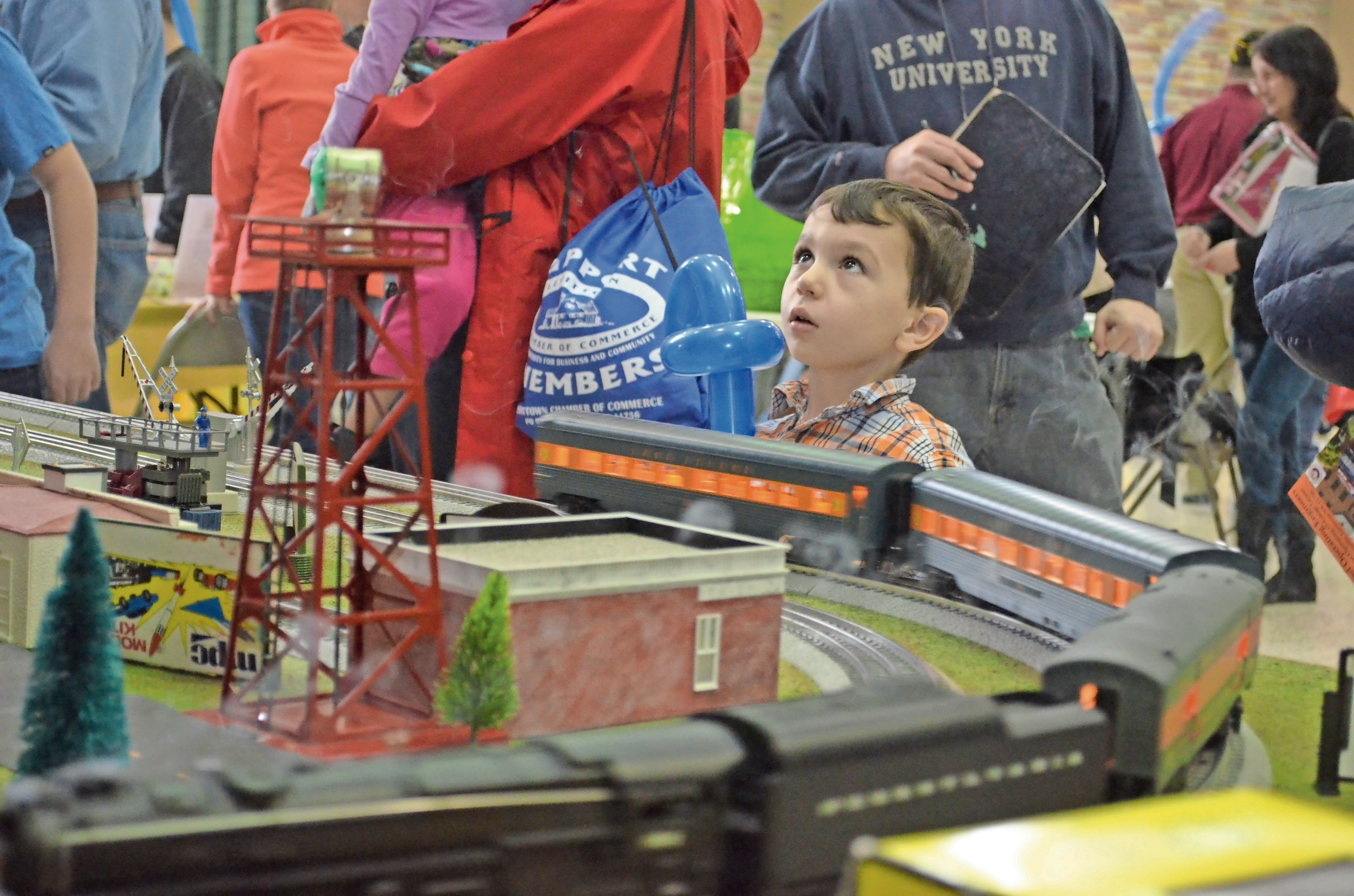 David Smallberg, 4, had fun looking at the Nassau Lionel Engineers train exhibit at the Levittown Community Council WinterFest.