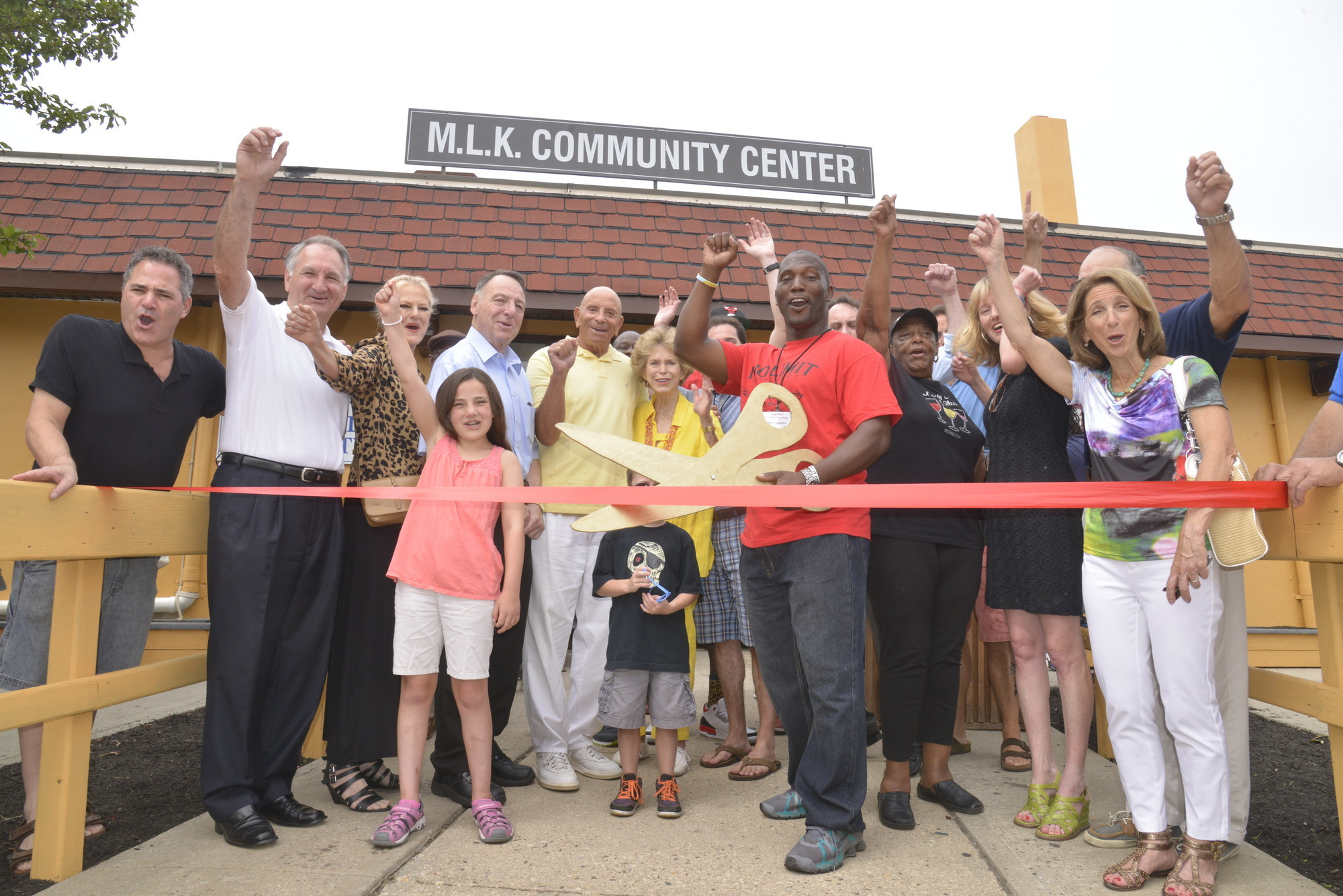 After the MLK Center on Riverside Boulevard was closed for renovations after Hurricane Sandy, a ribbon-cutting celebrated its reopening in 2013.