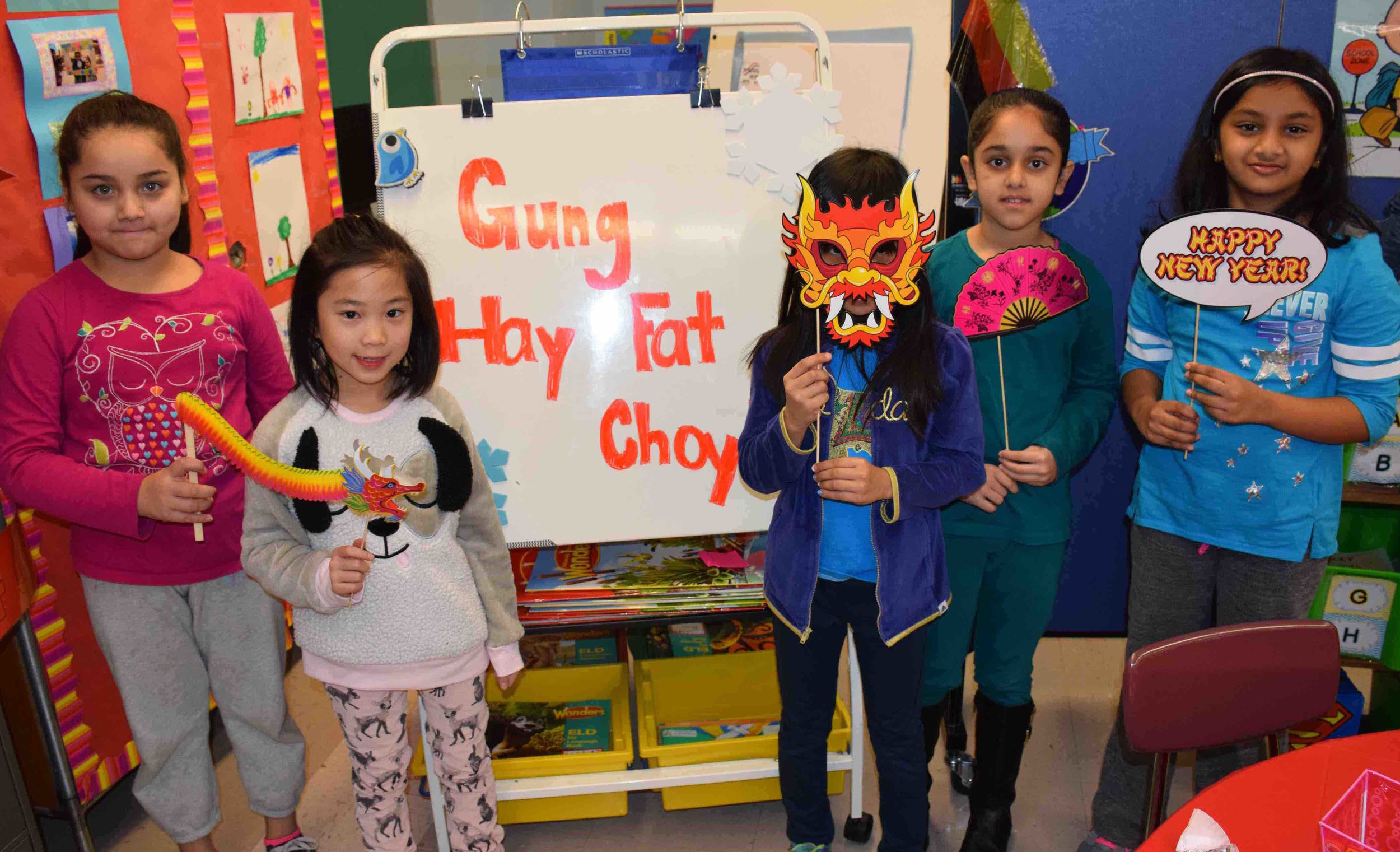English as a New Language students at Meadowbrook Elementary School celebrated the Chinese New Year with a variety of holiday-themed activities.