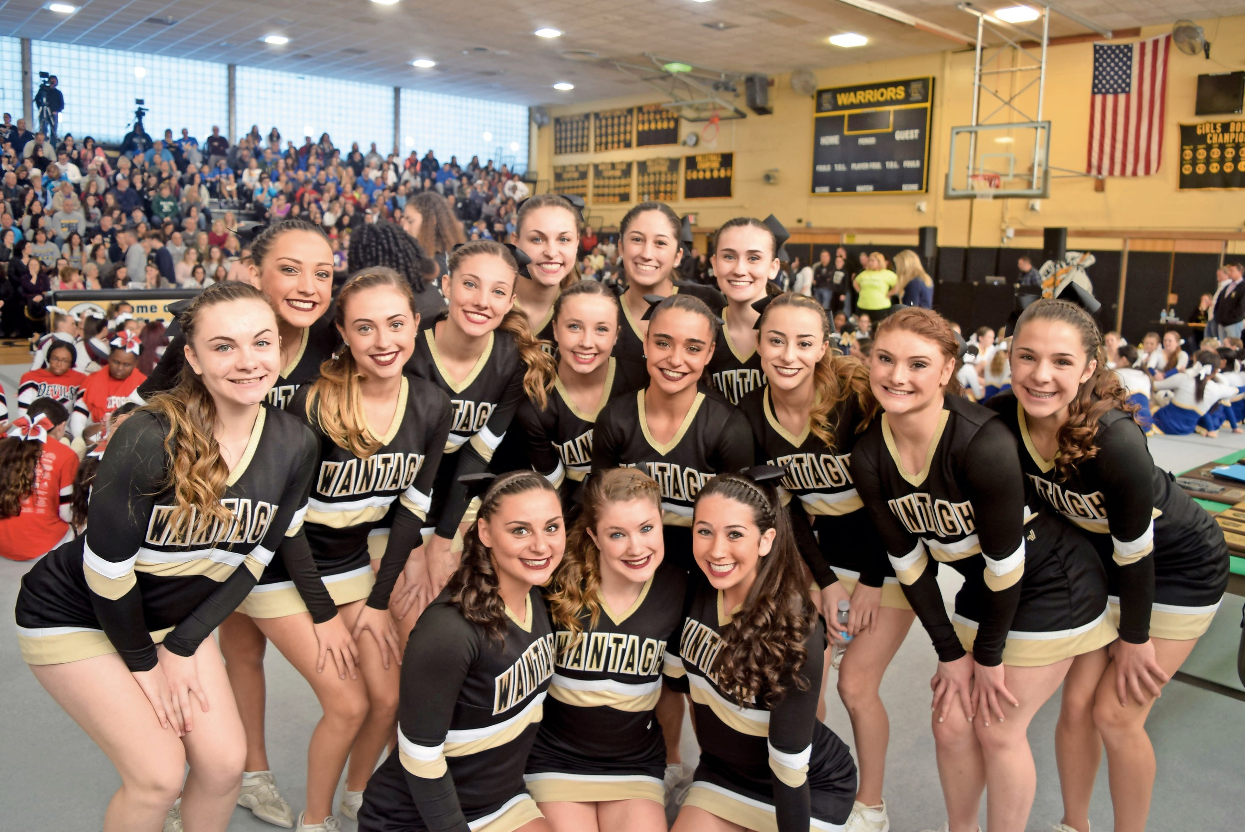 The Wantagh High School cheerleading team took home a county championship on Feb. 26, earning it a spot in the New York State Public High School Athletic Association Cheer Championships this weekend.