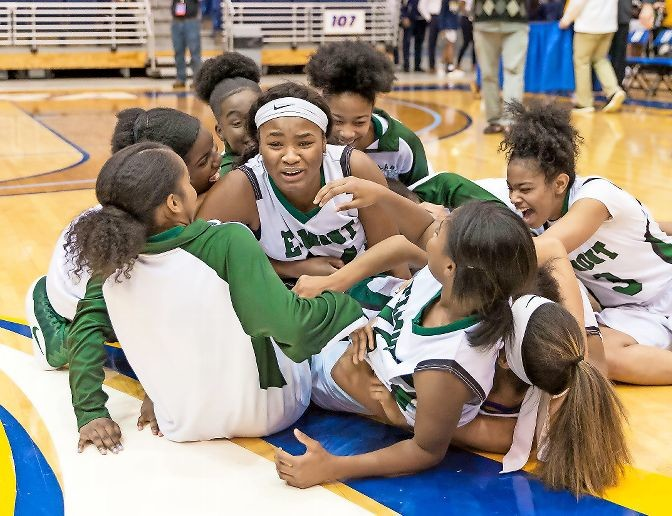 The Lady Spartans celebrated their first county championship in 13 years after holding off North Shore, 50-49, last Saturday at Hofstra in the Class A final.