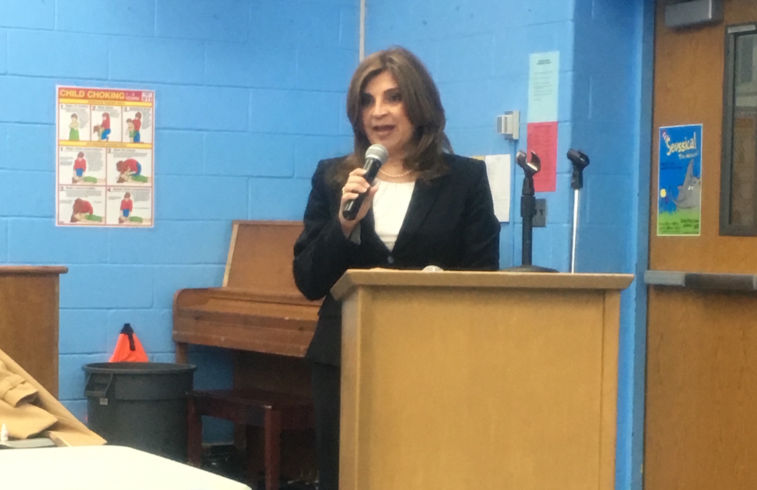 Pecora introduced herself to the community at the March 2 Board of Education meeting.