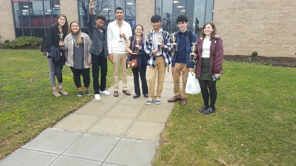 Eight South Side High School students placed first or second at the Chemaginations regional competition at St. John's University on March 1.