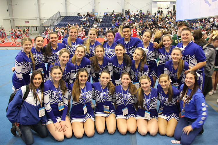 Calhoun cheerleading coach Chrissy Meisalas said team members' commitment to their sport enabled them to reach the New York state cheer championships in Syracuse.