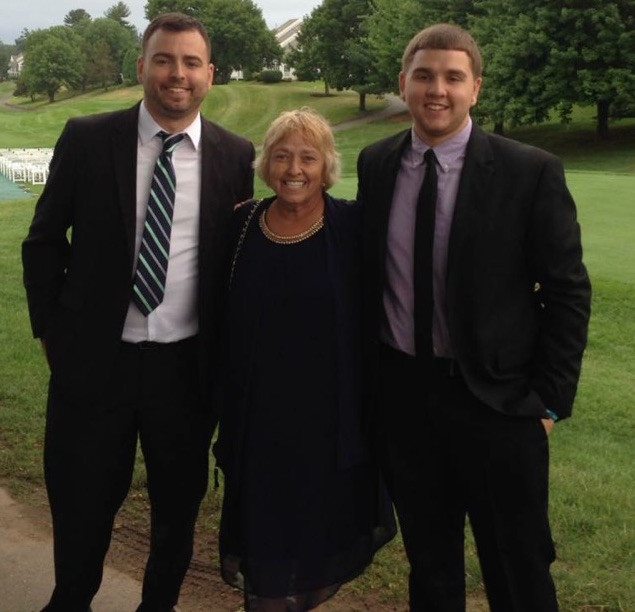 Adam Lawrence with his late mother, Mindy, and his brother, Tyler.