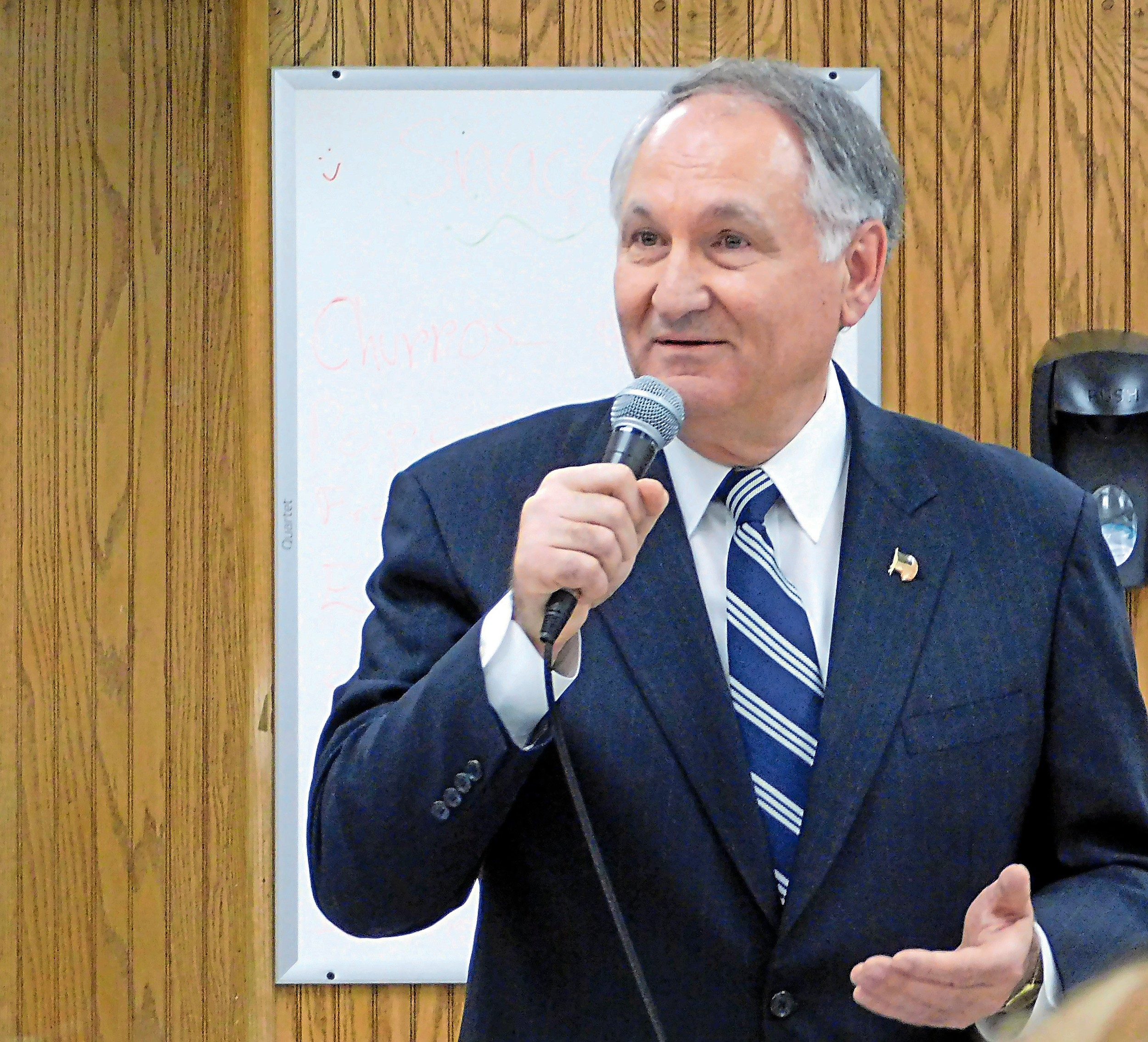George Maragos, the county comptroller who is also running as a Democrat for county executive, announced his anti-corruption agenda on Wednesday.