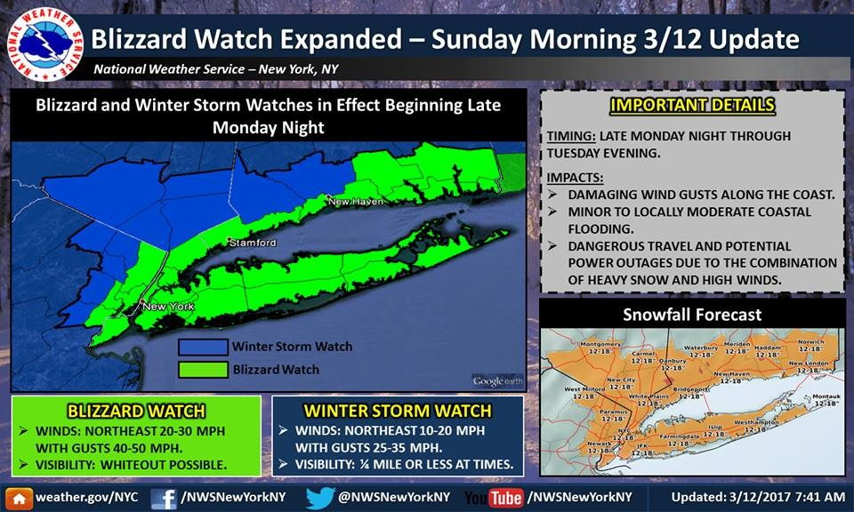 Long Island is preparing for another major snowstorm.