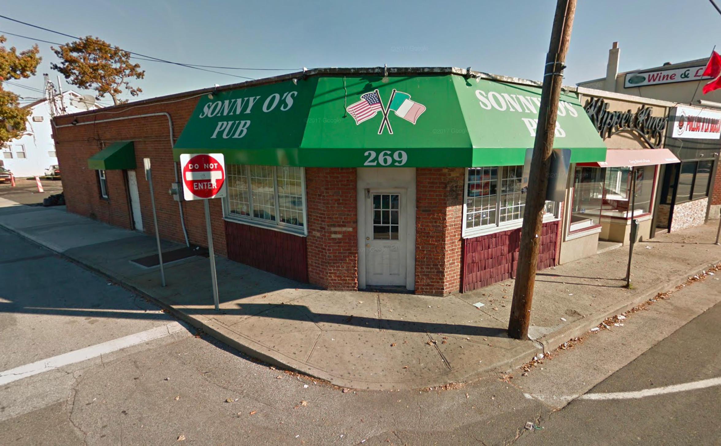 The man was found outside Sonny O's Pub, at 269 West Merrick Road, early Monday morning.