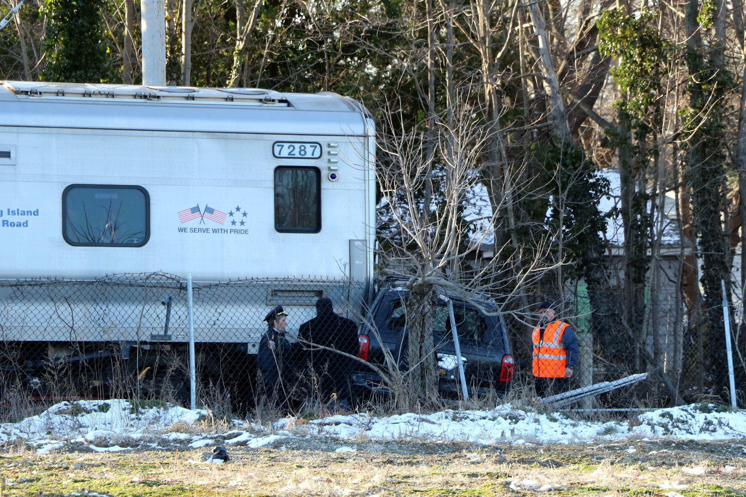 A 7 a.m. train hit a minivan crossing Franklin Avenue in Malverne on March 13.