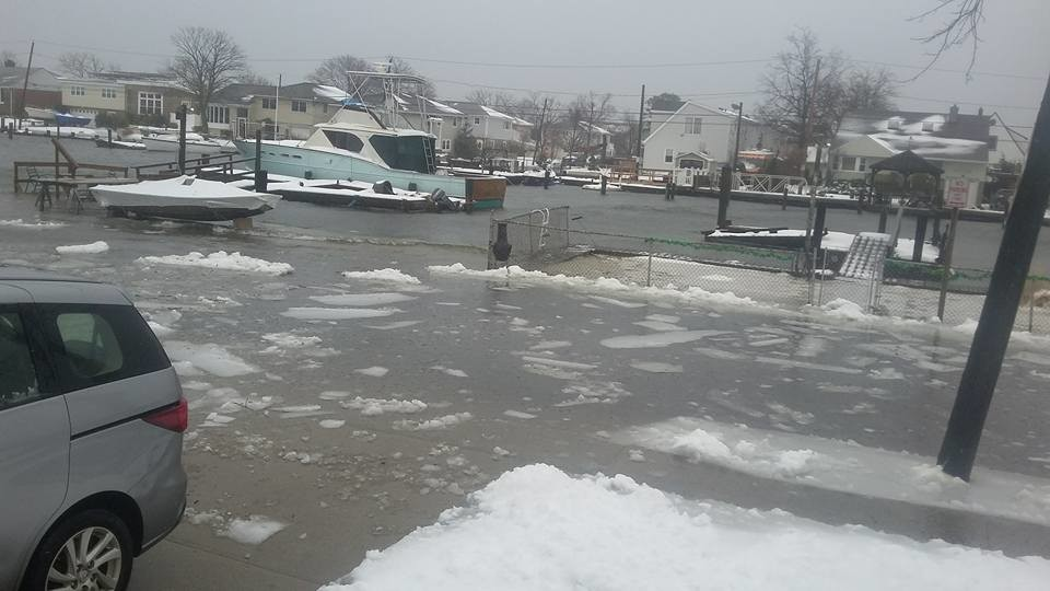 Flooding occurred on California Place in Barnum Island.