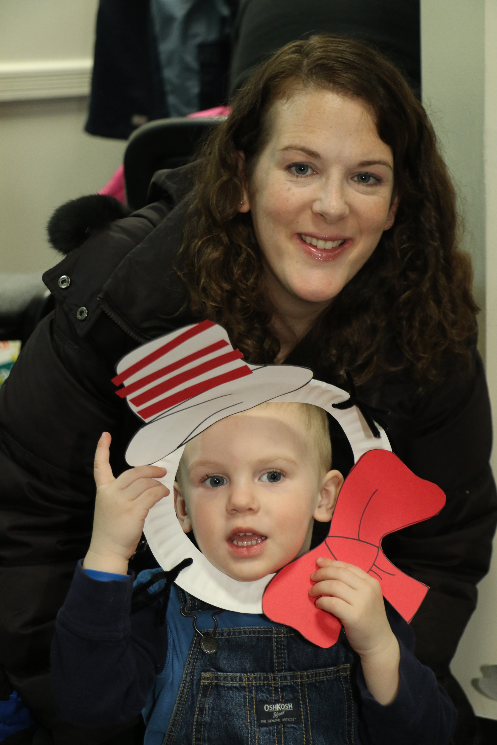 Lauren Ribera and her 3-year-old son, James, made crafts, read stories, and saw a show at the event.