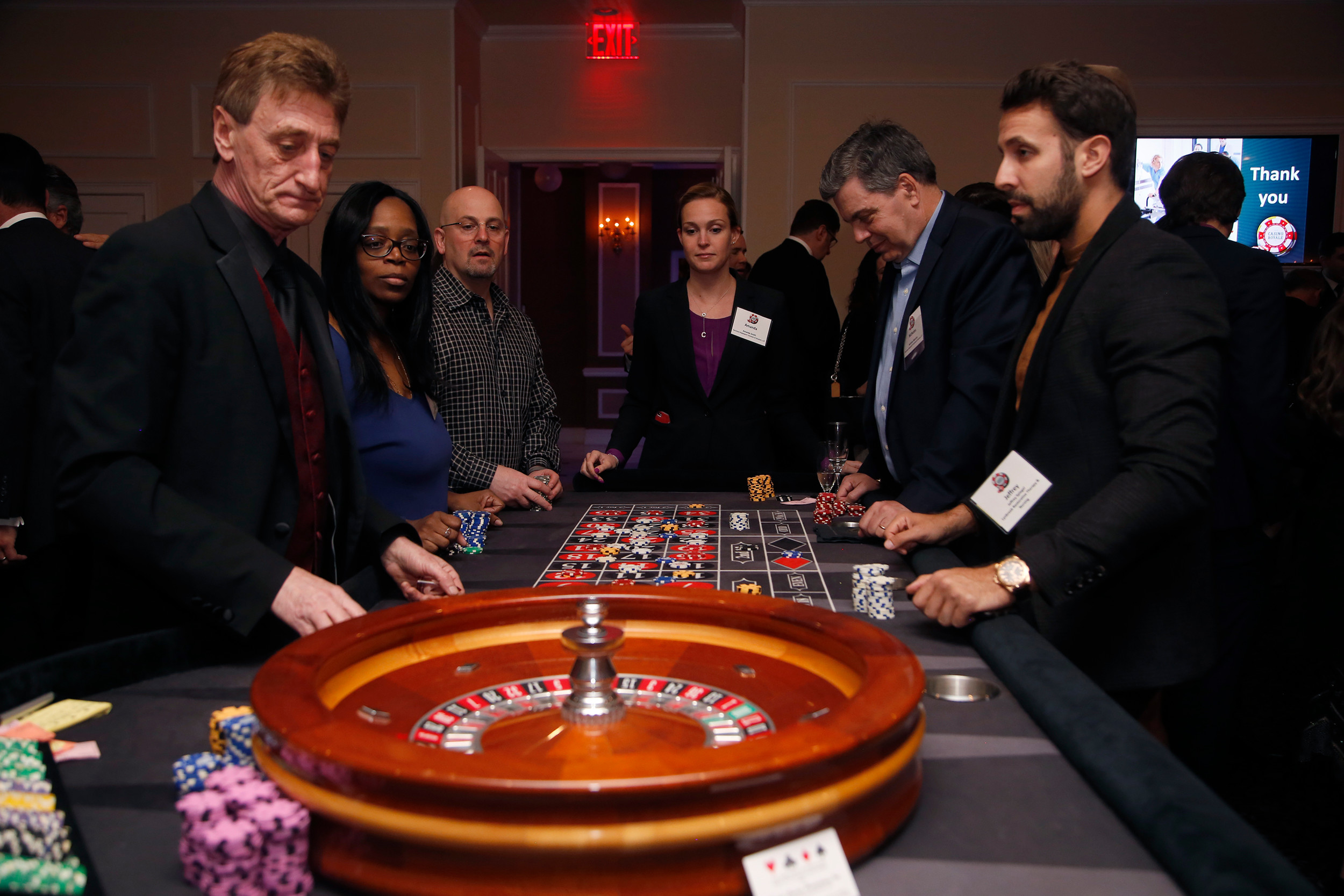 Round and round went the roulette ball as onlookers see if their picked the right number.