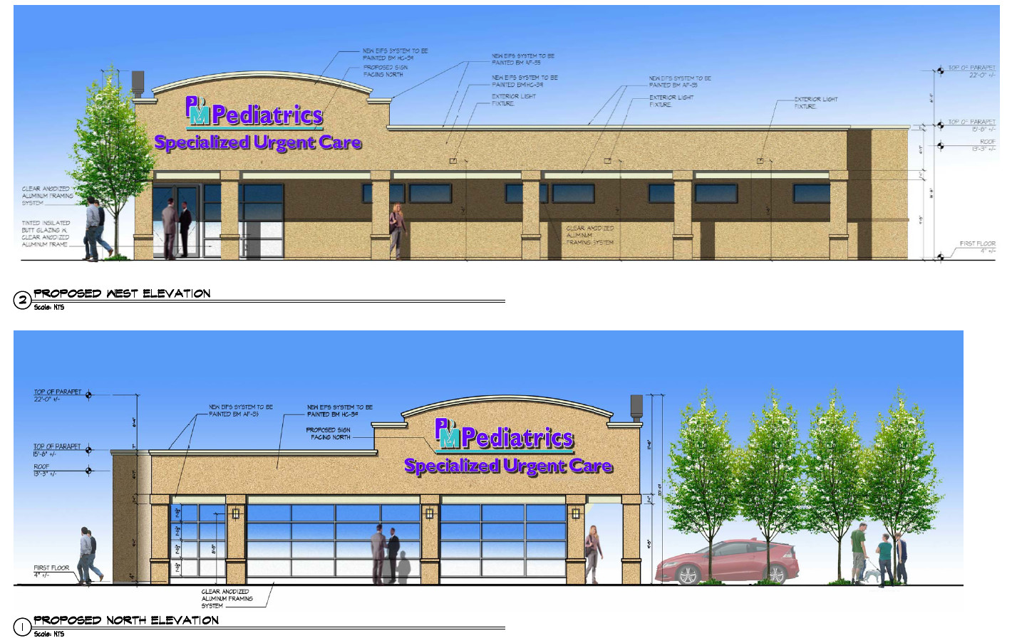 The new clinic would occupy the strip of empty shops on the corner of Sunrise Highway and Morris Avenue.