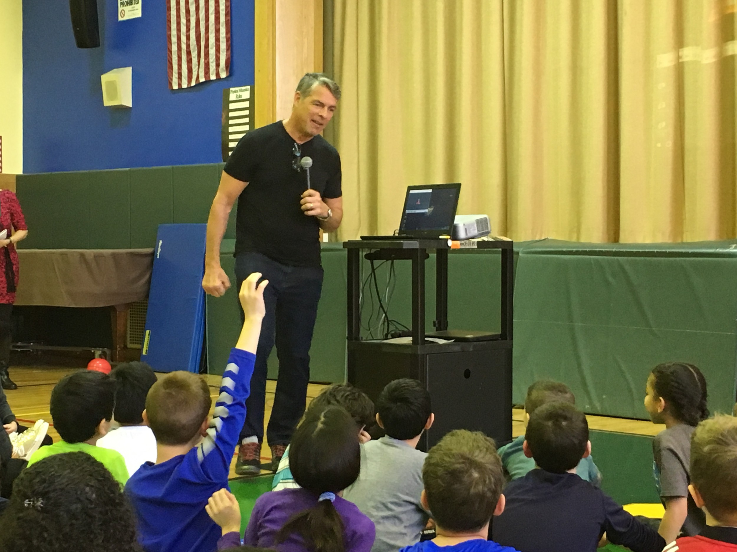 Green told the students about the importance of reading